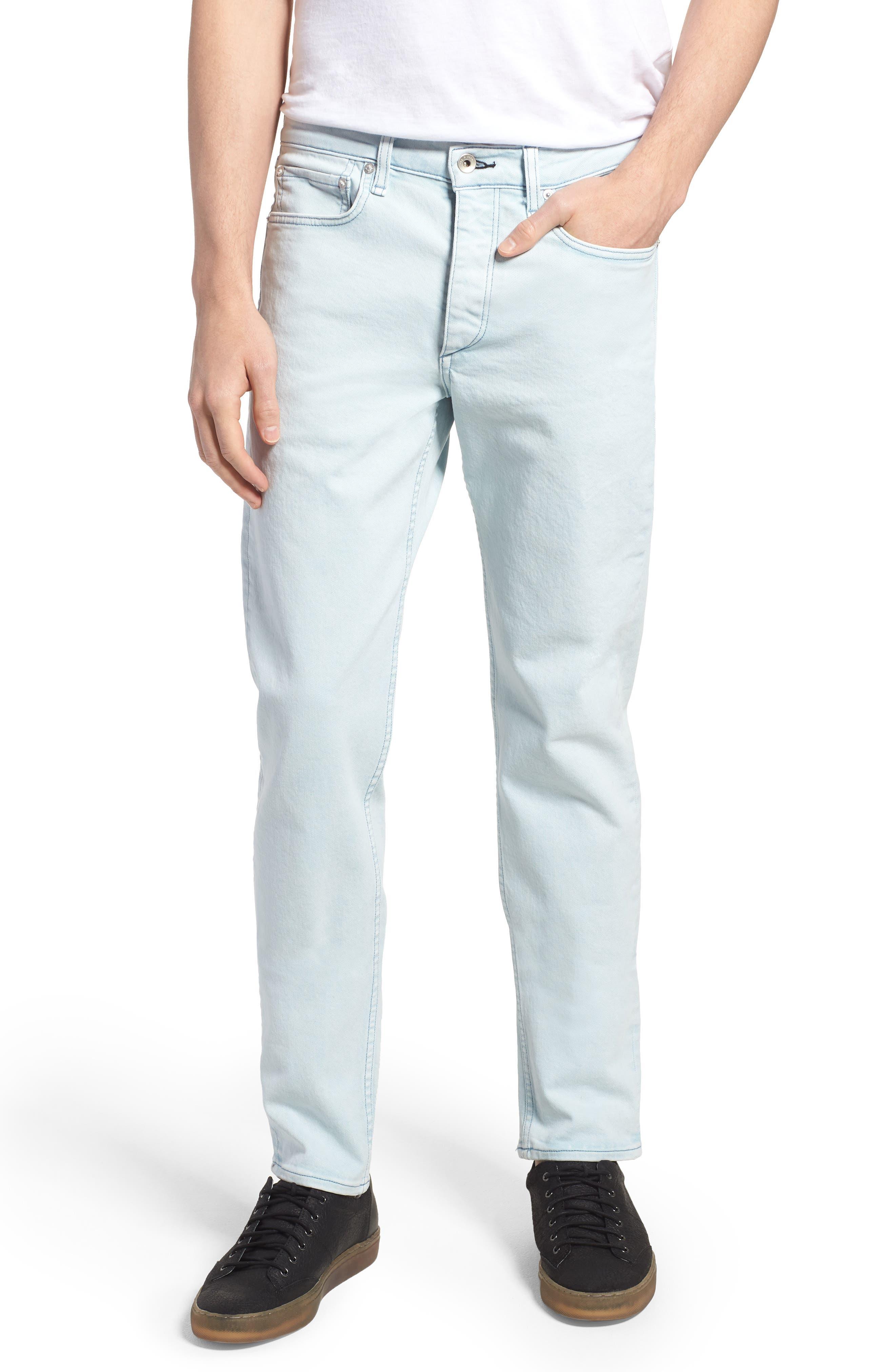 Fit 2 Slim Fit Jeans,                             Main thumbnail 1, color,                             Light Blue Pigment