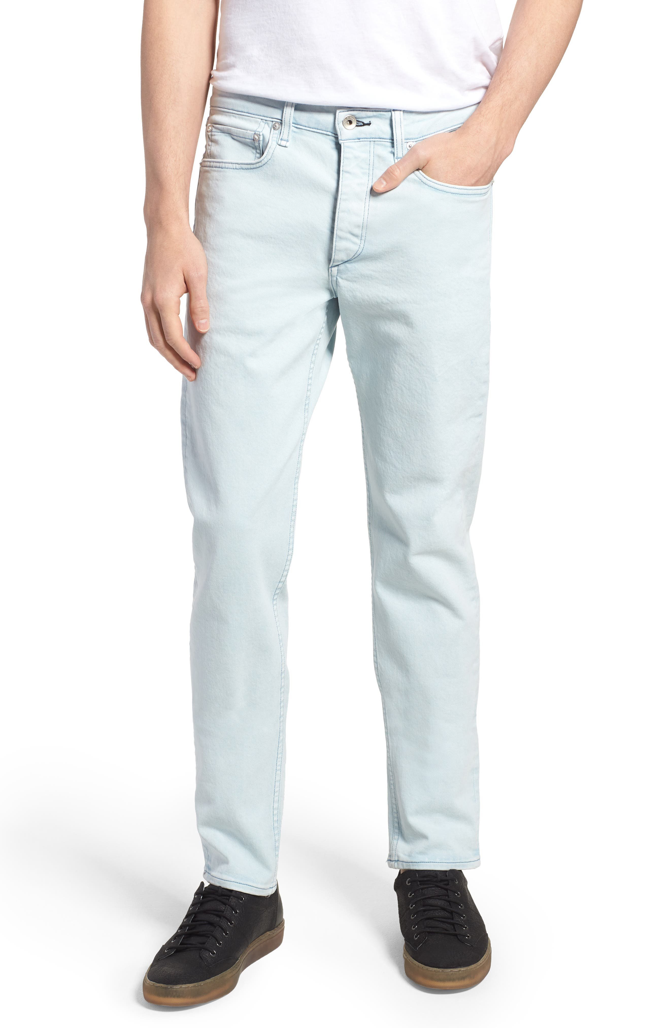rag & bone Fit 2 Slim Fit Jeans (Light Blue Pigment)