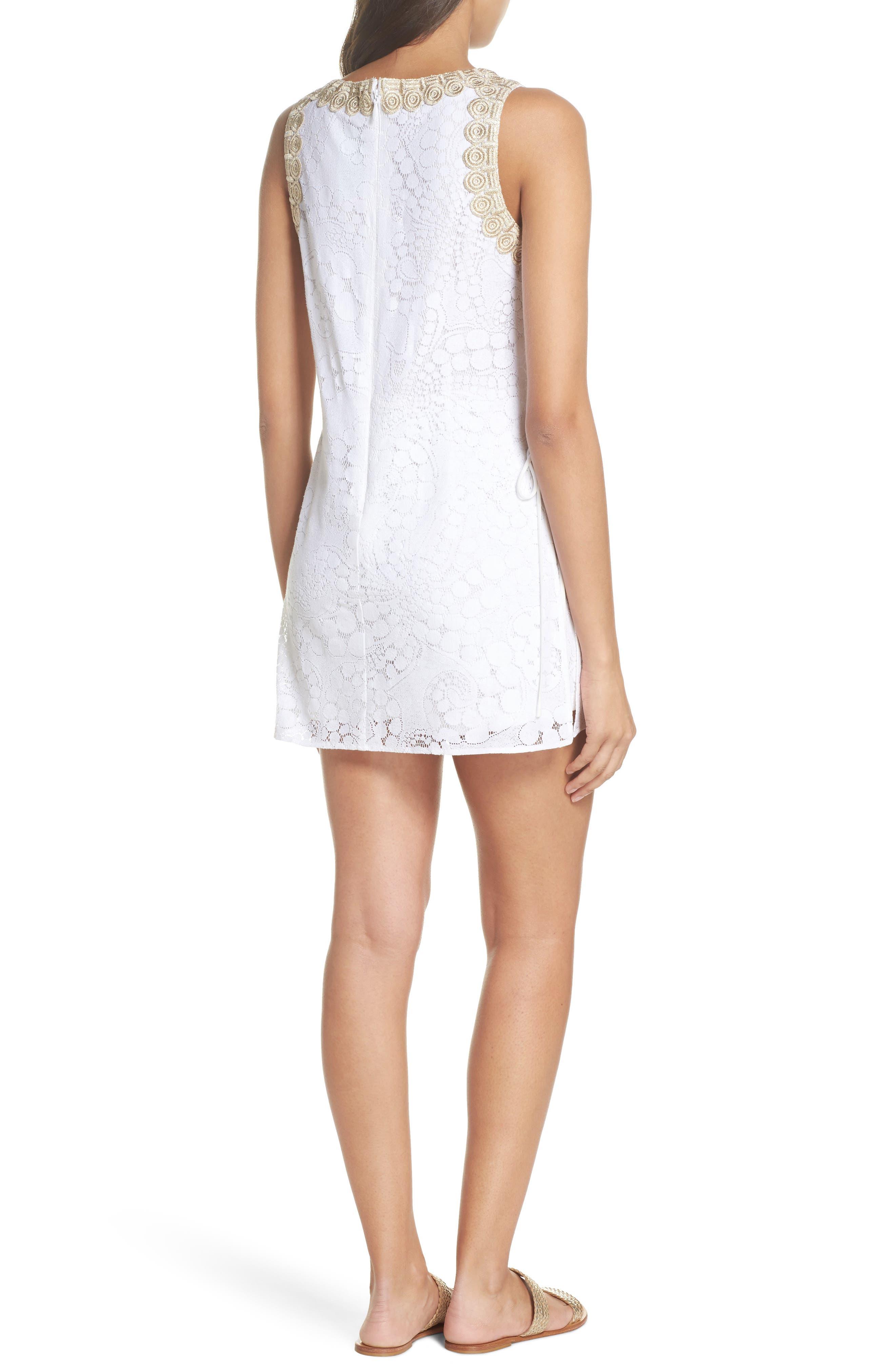 Donna Lace Romper,                             Alternate thumbnail 2, color,                             Resort White Mocean Lace
