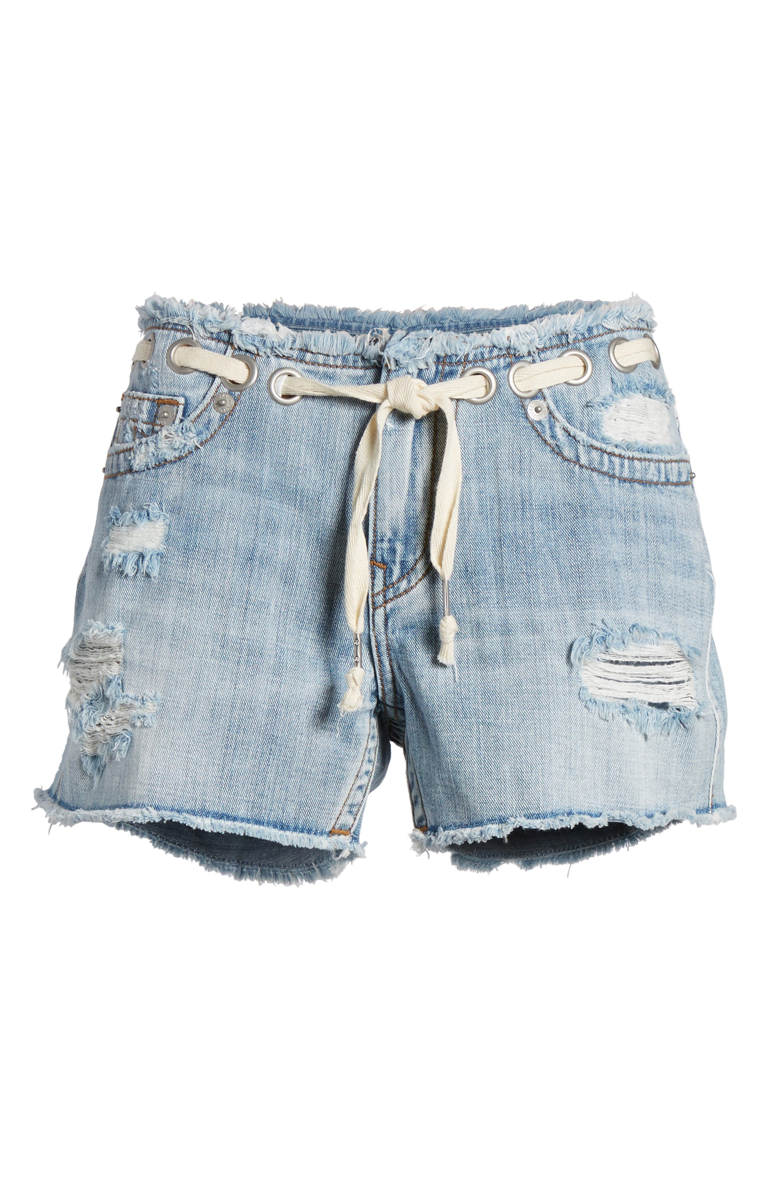 Fashion Distressed Denim Shorts,                             Alternate thumbnail 7, color,                             Ersl Baseline Destroy
