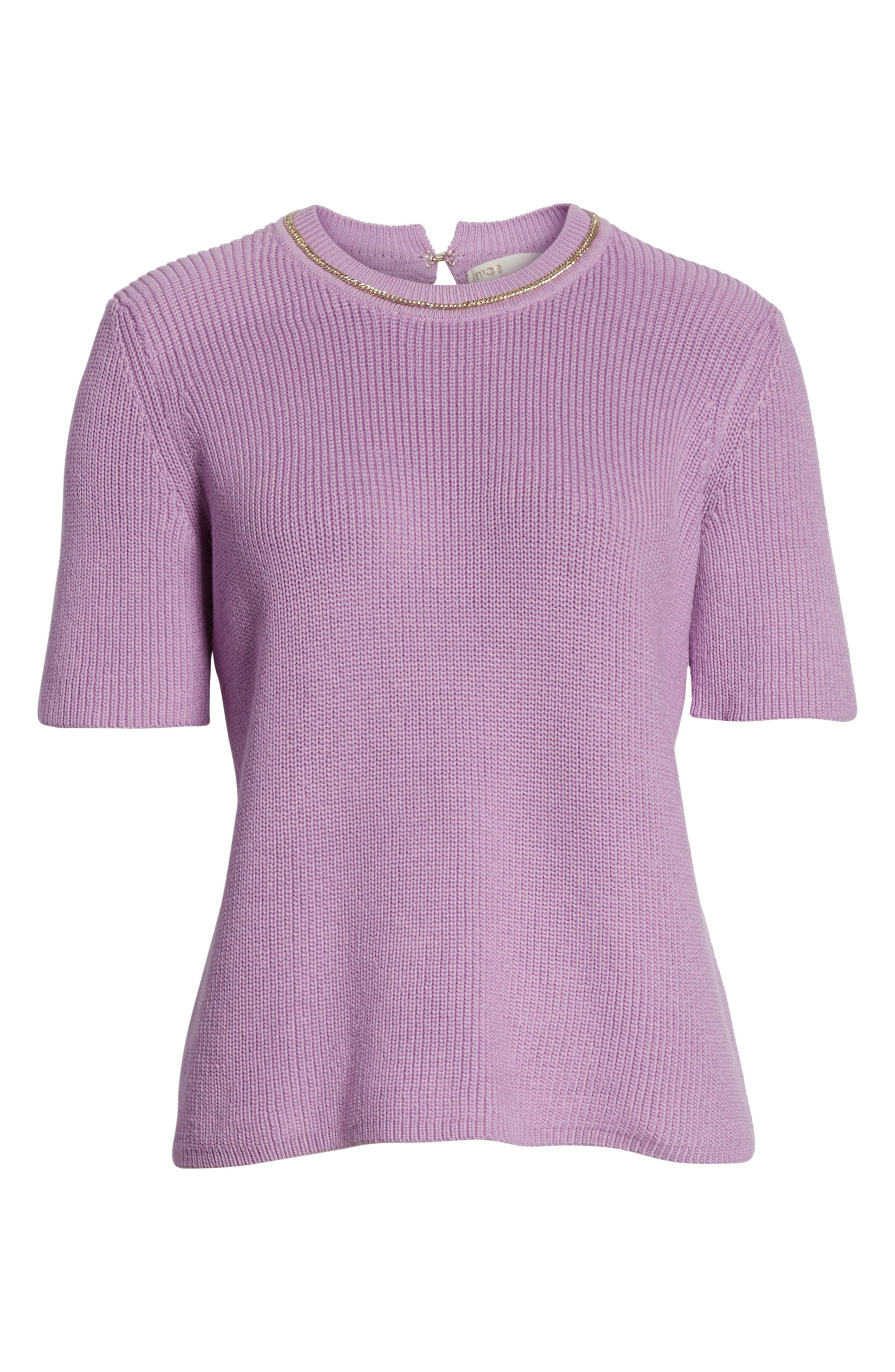 Magrite Sweater,                             Alternate thumbnail 6, color,                             Lilas