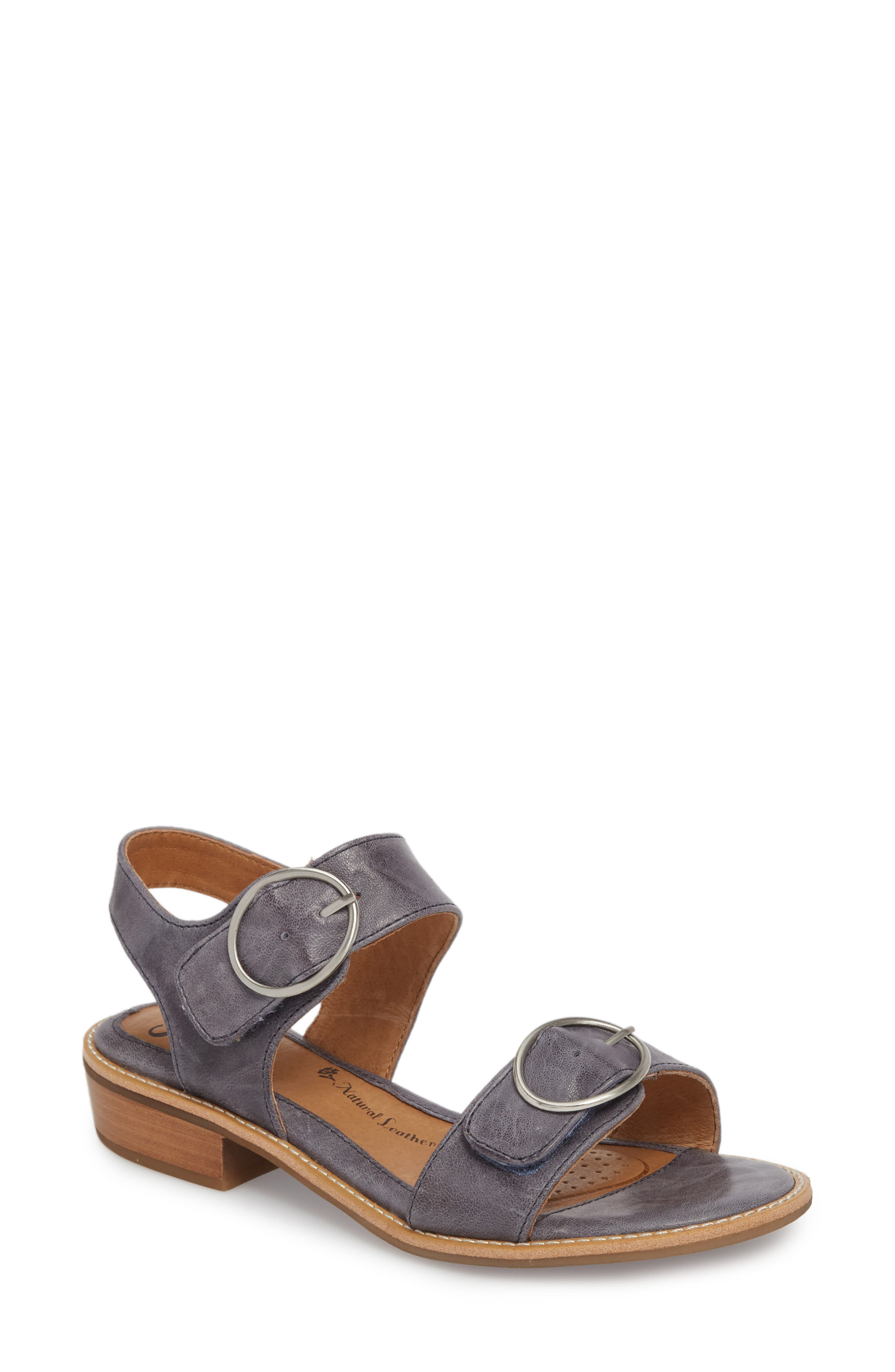 Nerissa Sandal,                         Main,                         color, Chambray Leather