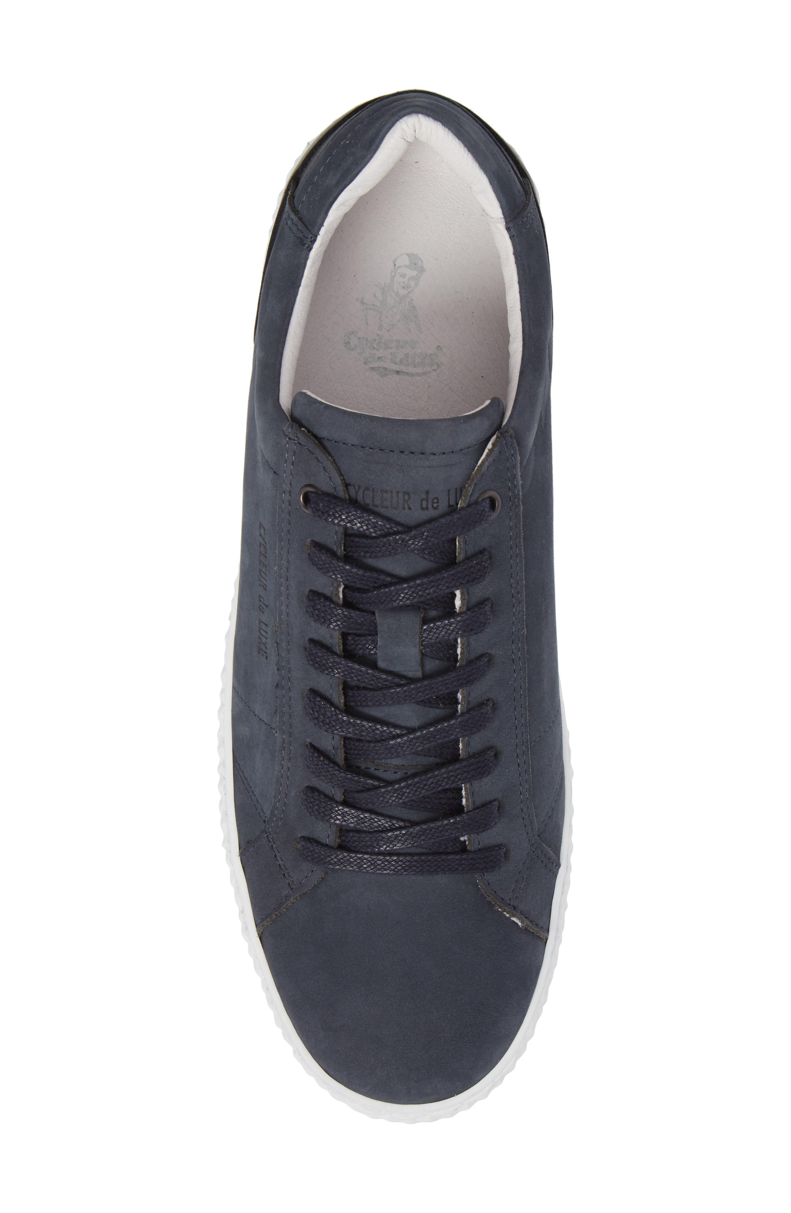 Bratislava Low Top Sneaker,                             Alternate thumbnail 5, color,                             Navy Leather