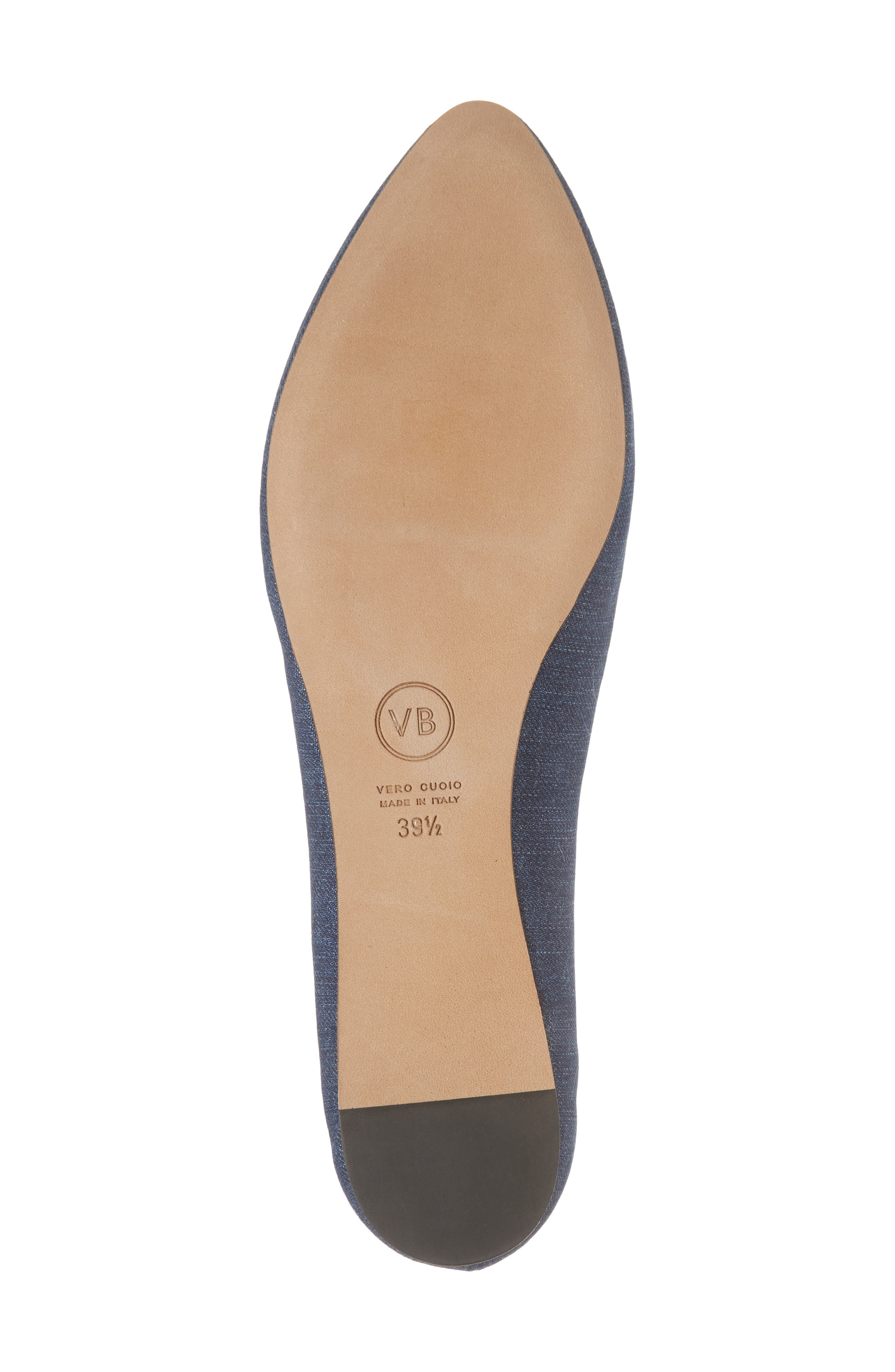 Griffin Pointy Toe Loafer,                             Alternate thumbnail 6, color,                             Chambray