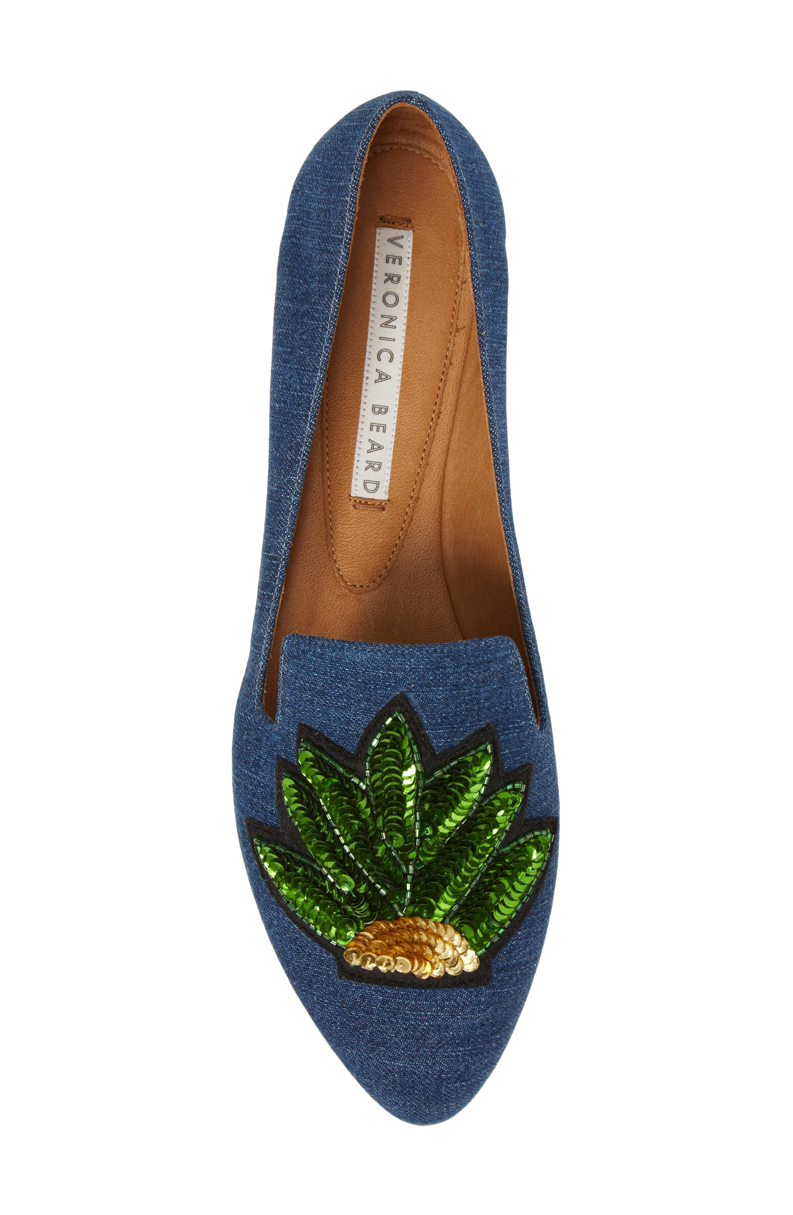 Griffin Pointy Toe Loafer,                             Alternate thumbnail 5, color,                             Chambray