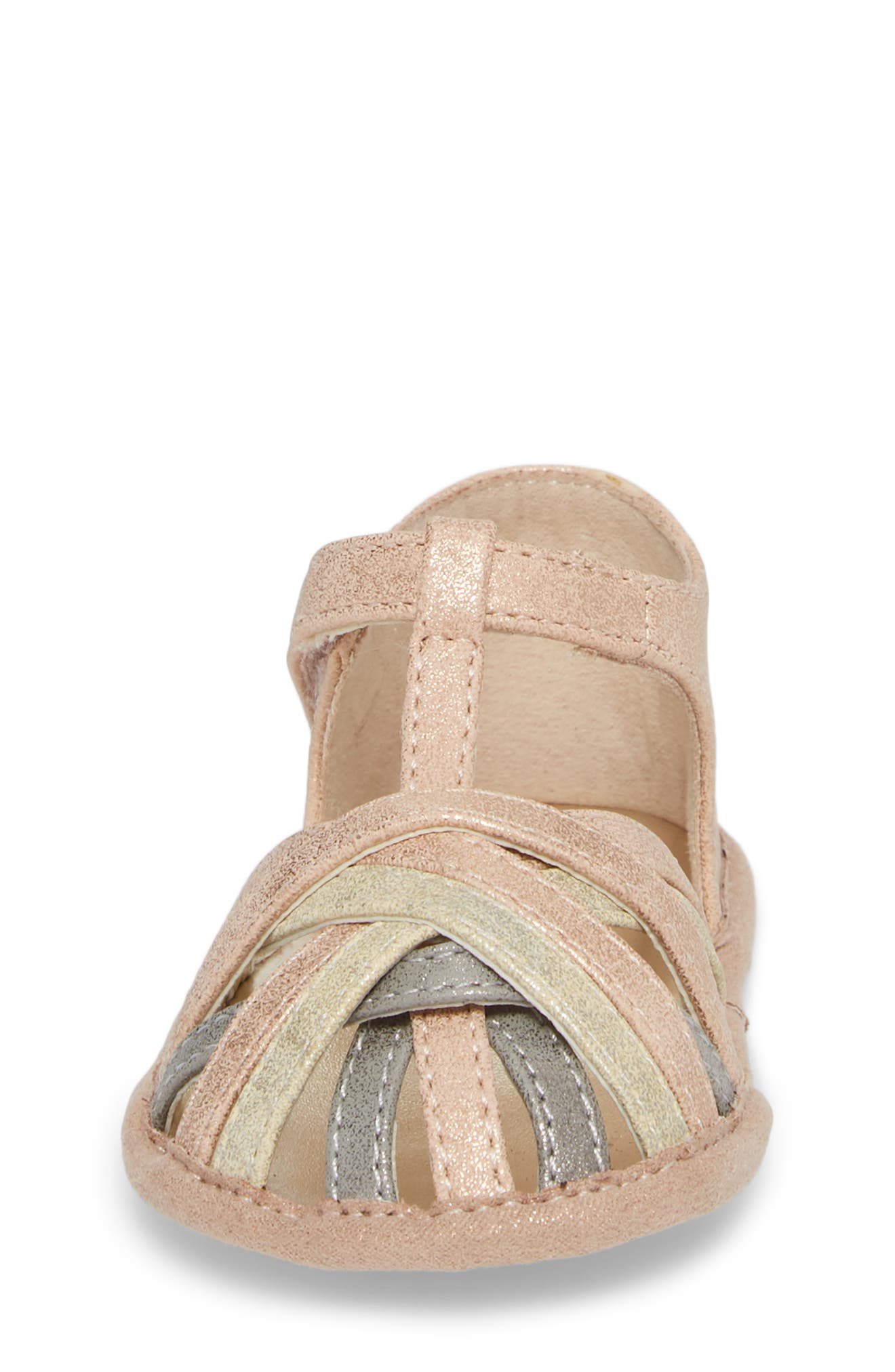 Wisp Metallic Sandal,                             Alternate thumbnail 4, color,                             Rose Gold