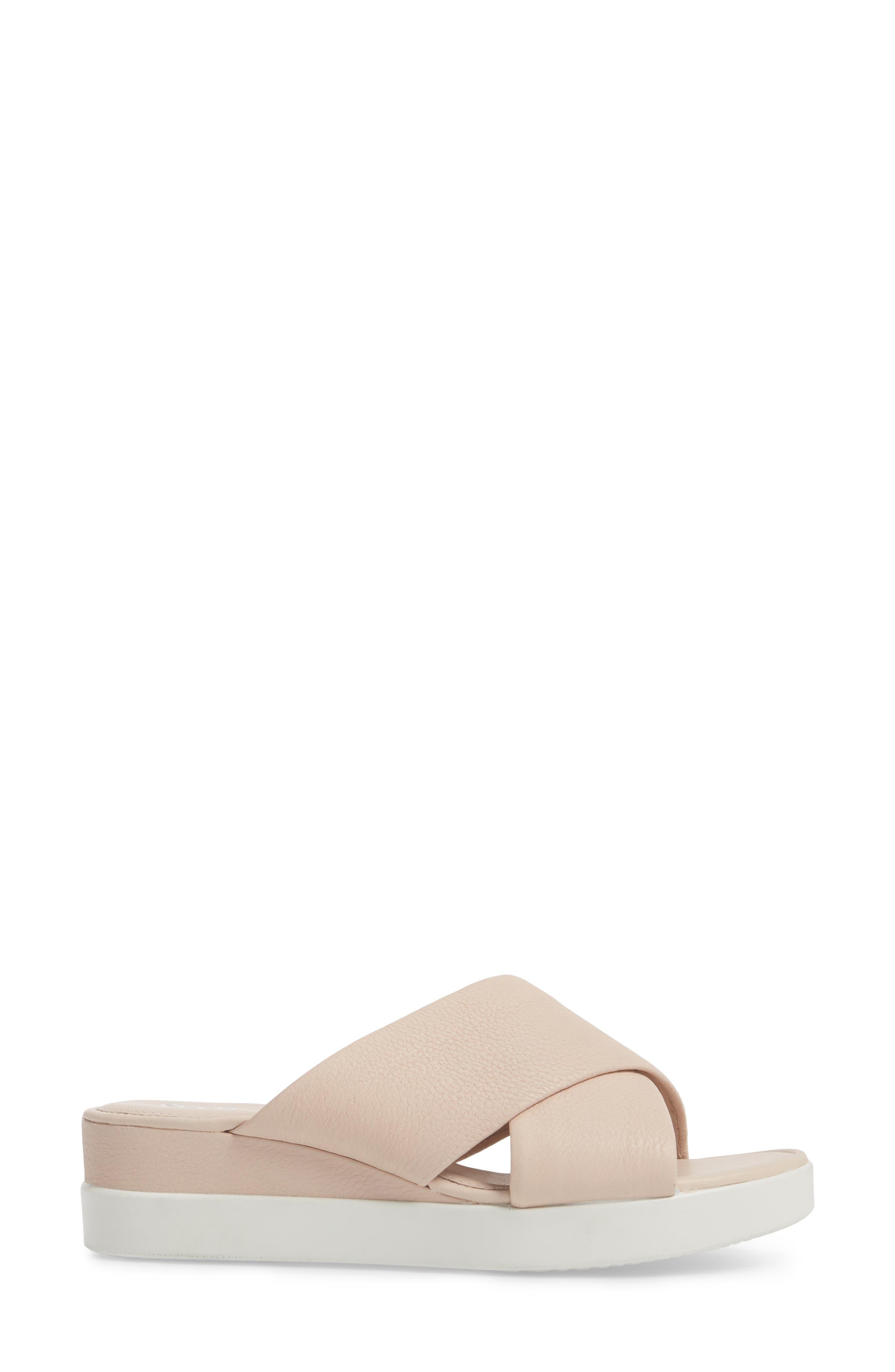 Touch Slide Sandal,                             Alternate thumbnail 3, color,                             Rose Dust Leather