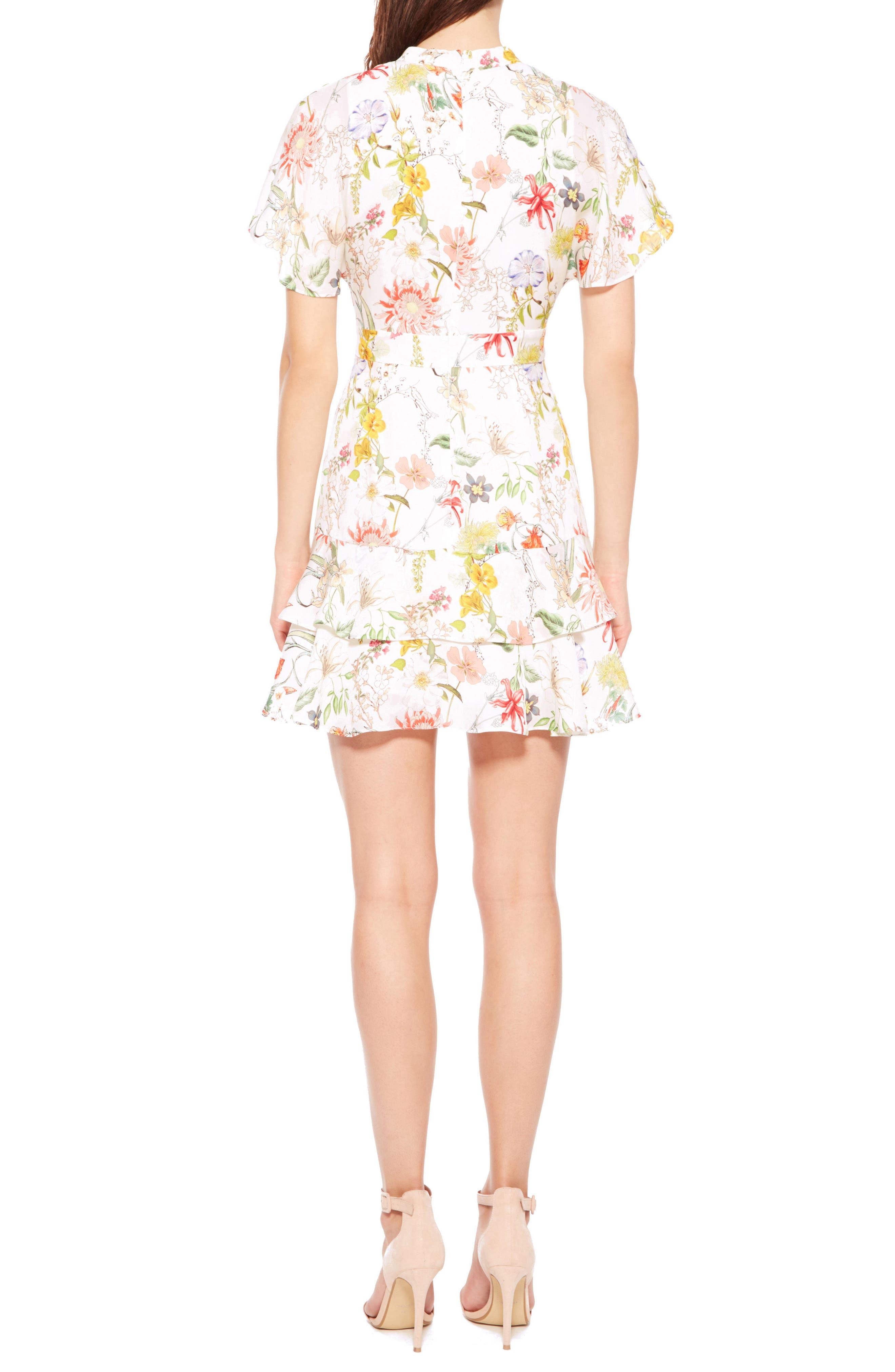Alternate Image 2  - Parker Natalie Floral Silk Dress