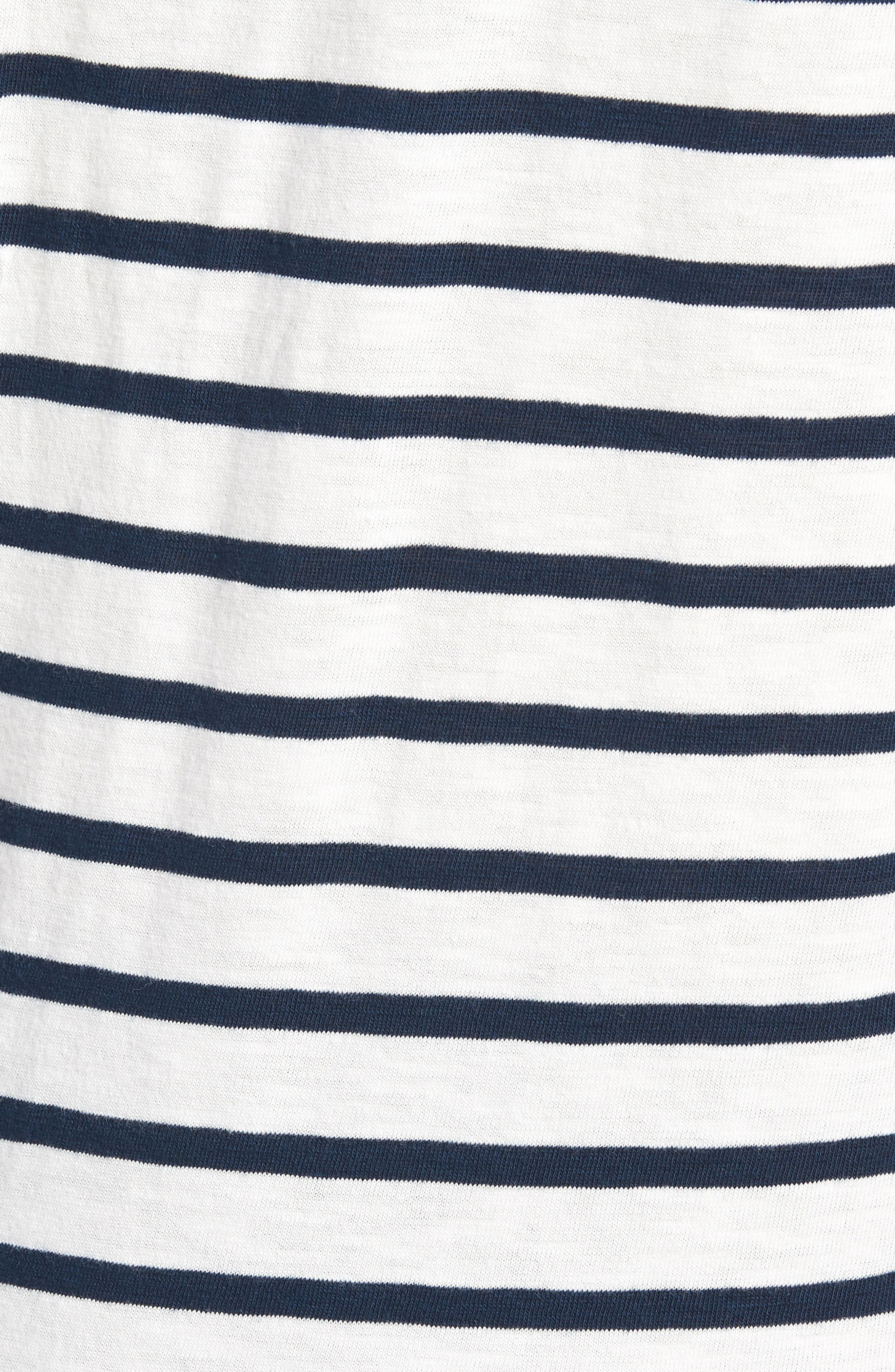 Deck Stripe Slub Cotton T-Shirt,                             Alternate thumbnail 5, color,                             Mountain White