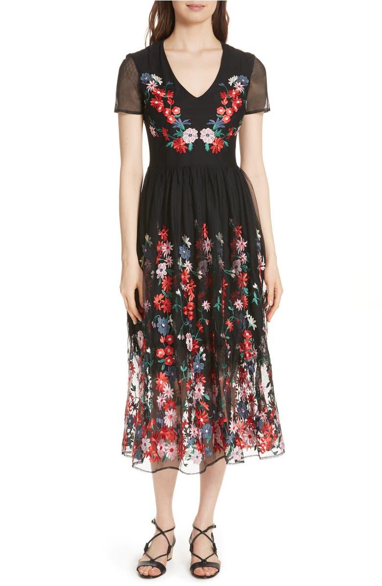 fe49e7d668 raphael-embroidered-midi-dress by maje