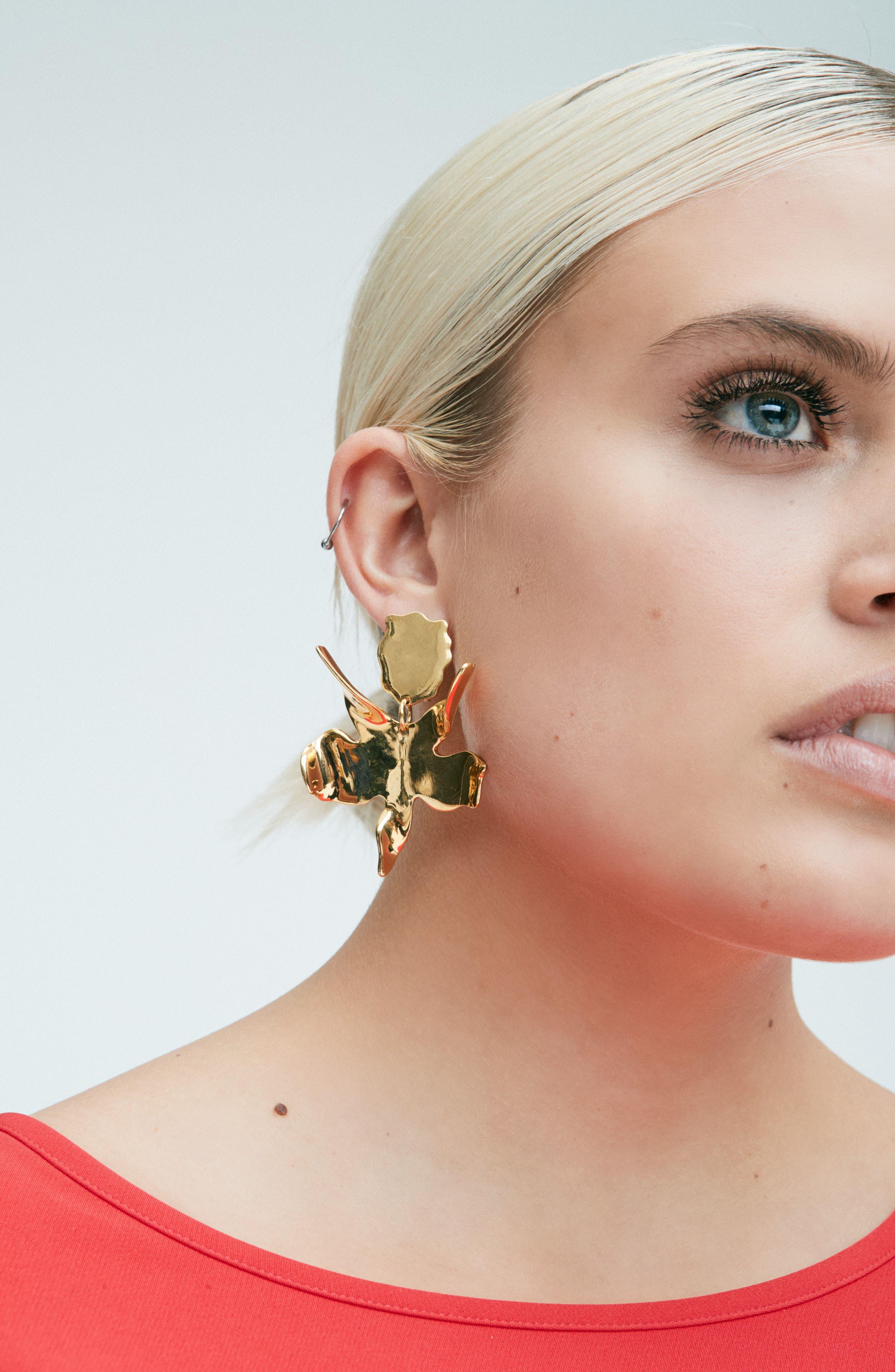 Alternate Image 3  - Lele Sadoughi Golden Lily Drop Earrings