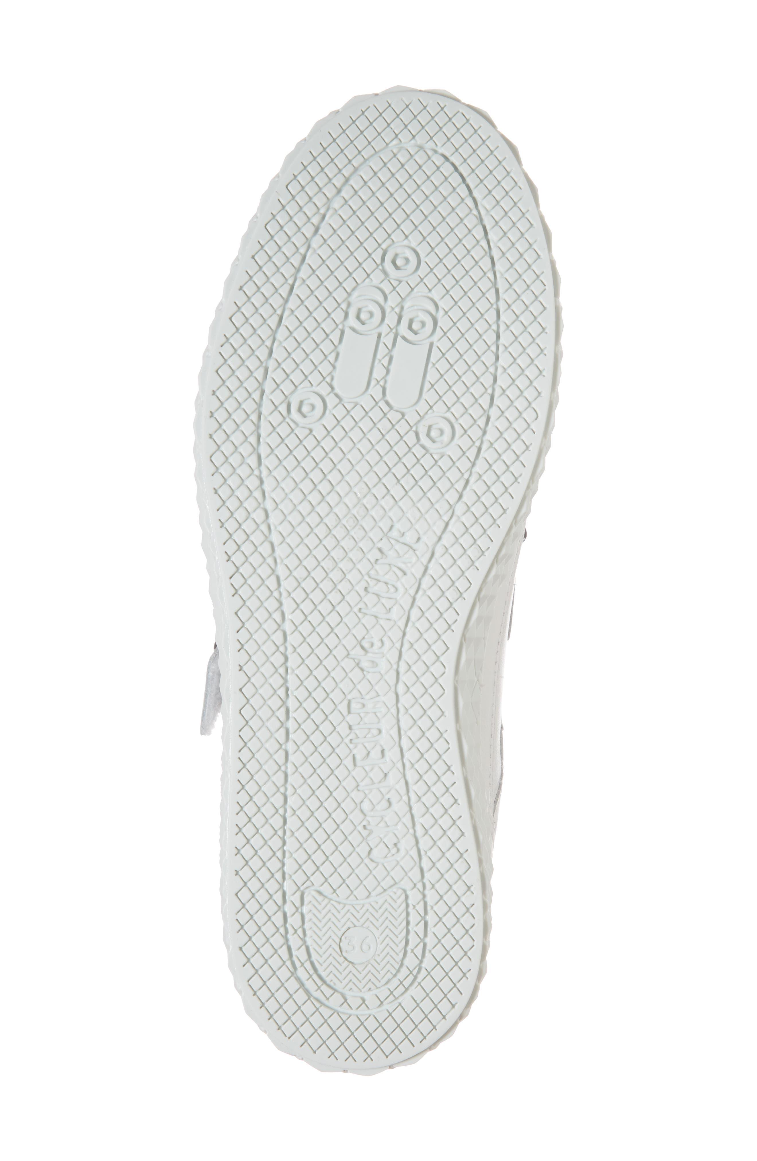 Hurou Embellished Sneaker,                             Alternate thumbnail 6, color,                             Optic White/ Black Leather