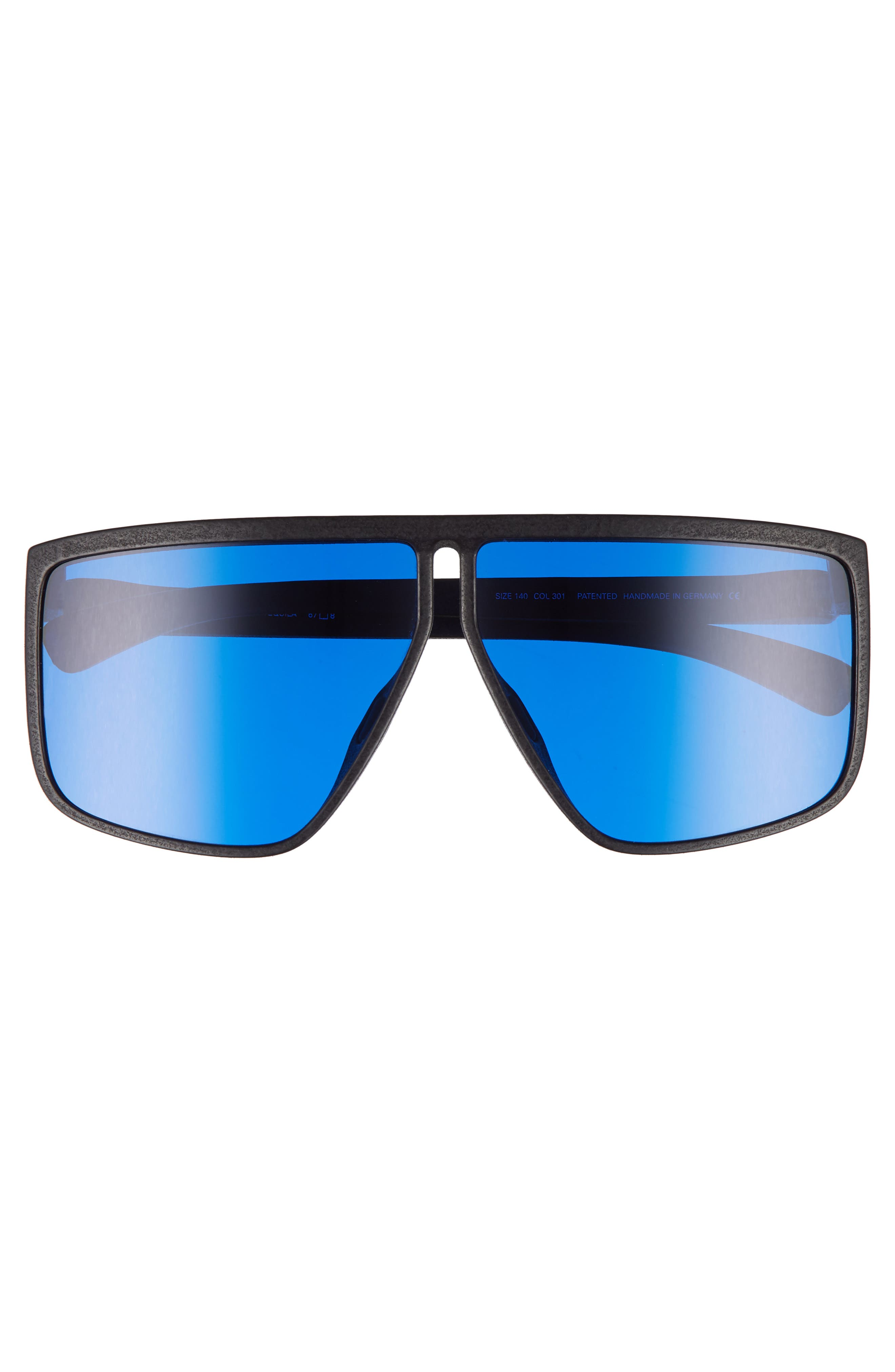 Tequila 67mm Sunglasses,                             Alternate thumbnail 2, color,                             Pitch Black/ Navy Shield
