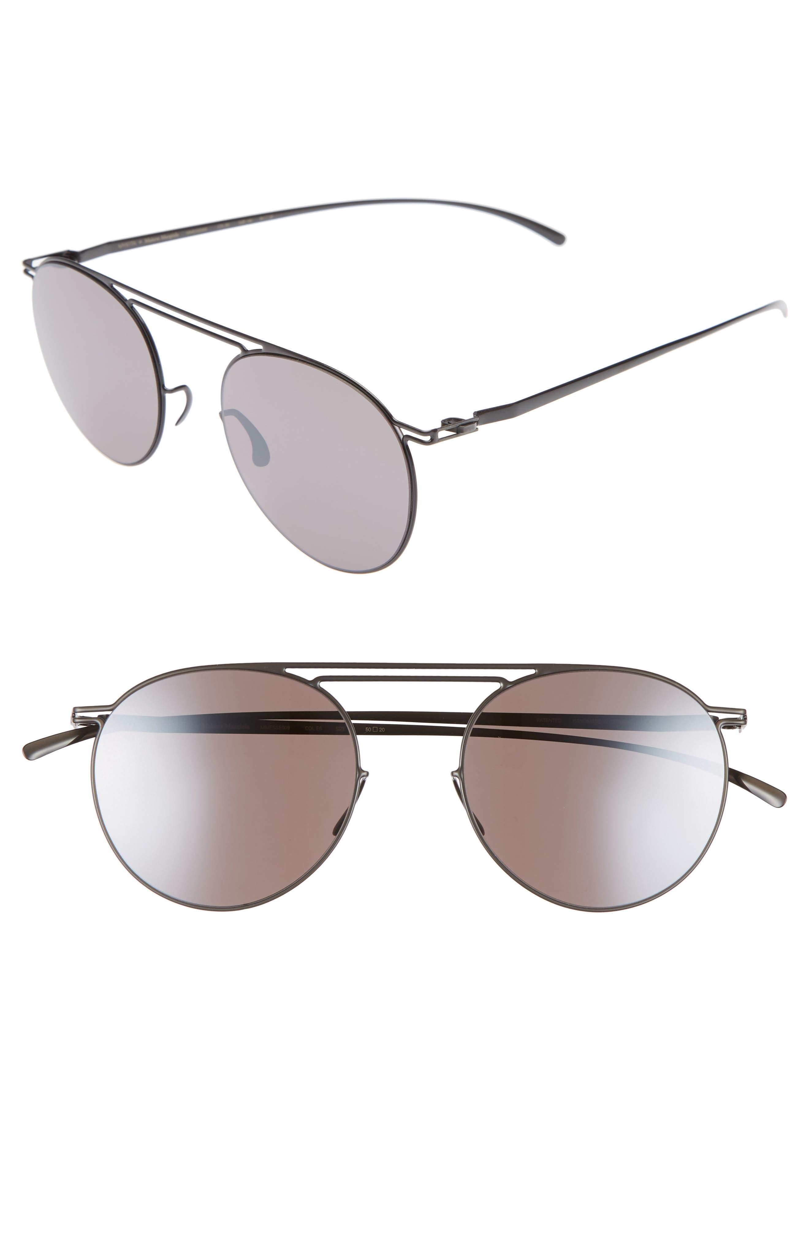 MMESSE009 50mm Sunglasses,                             Main thumbnail 1, color,                             Dark Grey