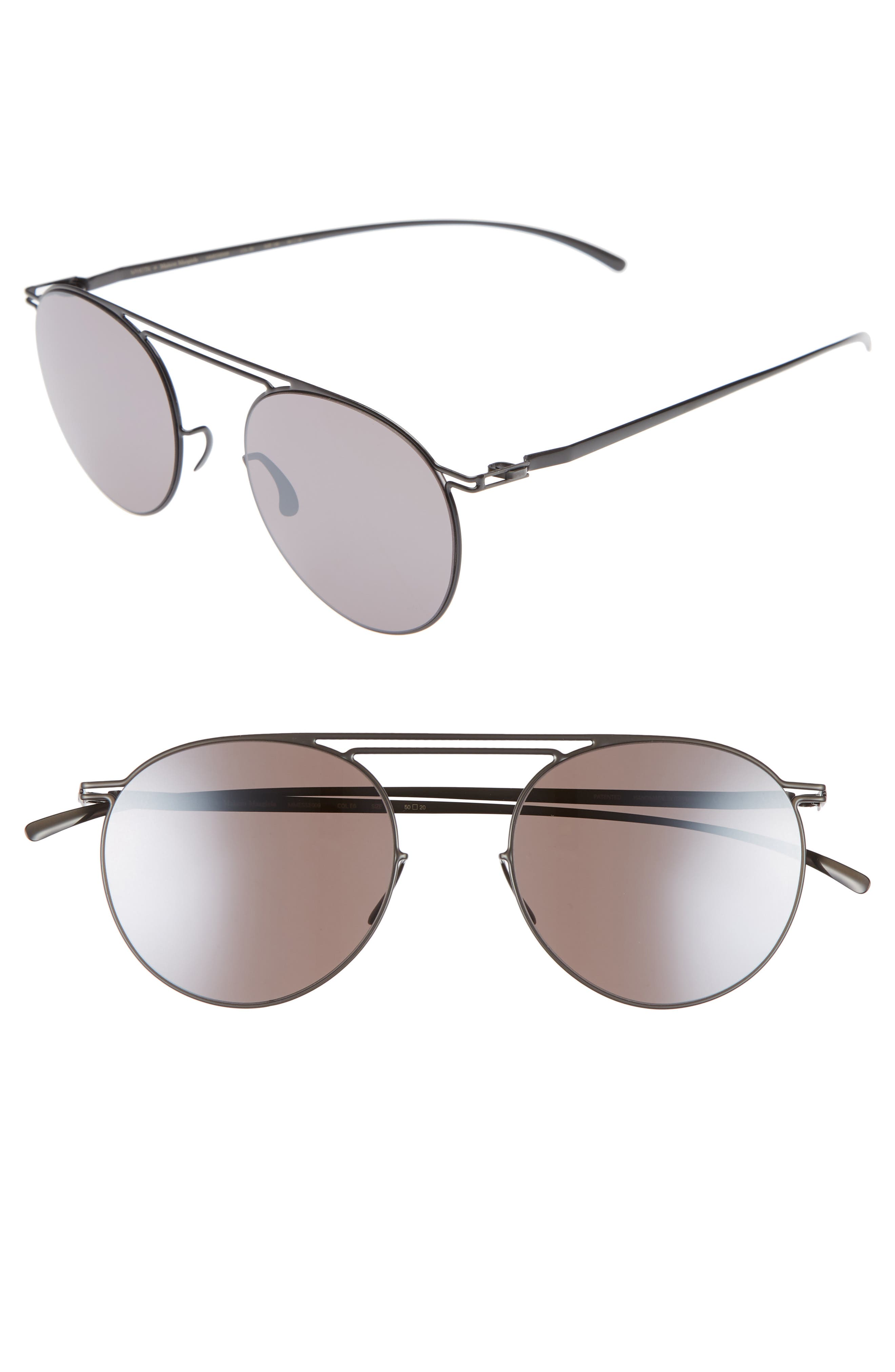 MMESSE009 50mm Sunglasses,                         Main,                         color, Dark Grey