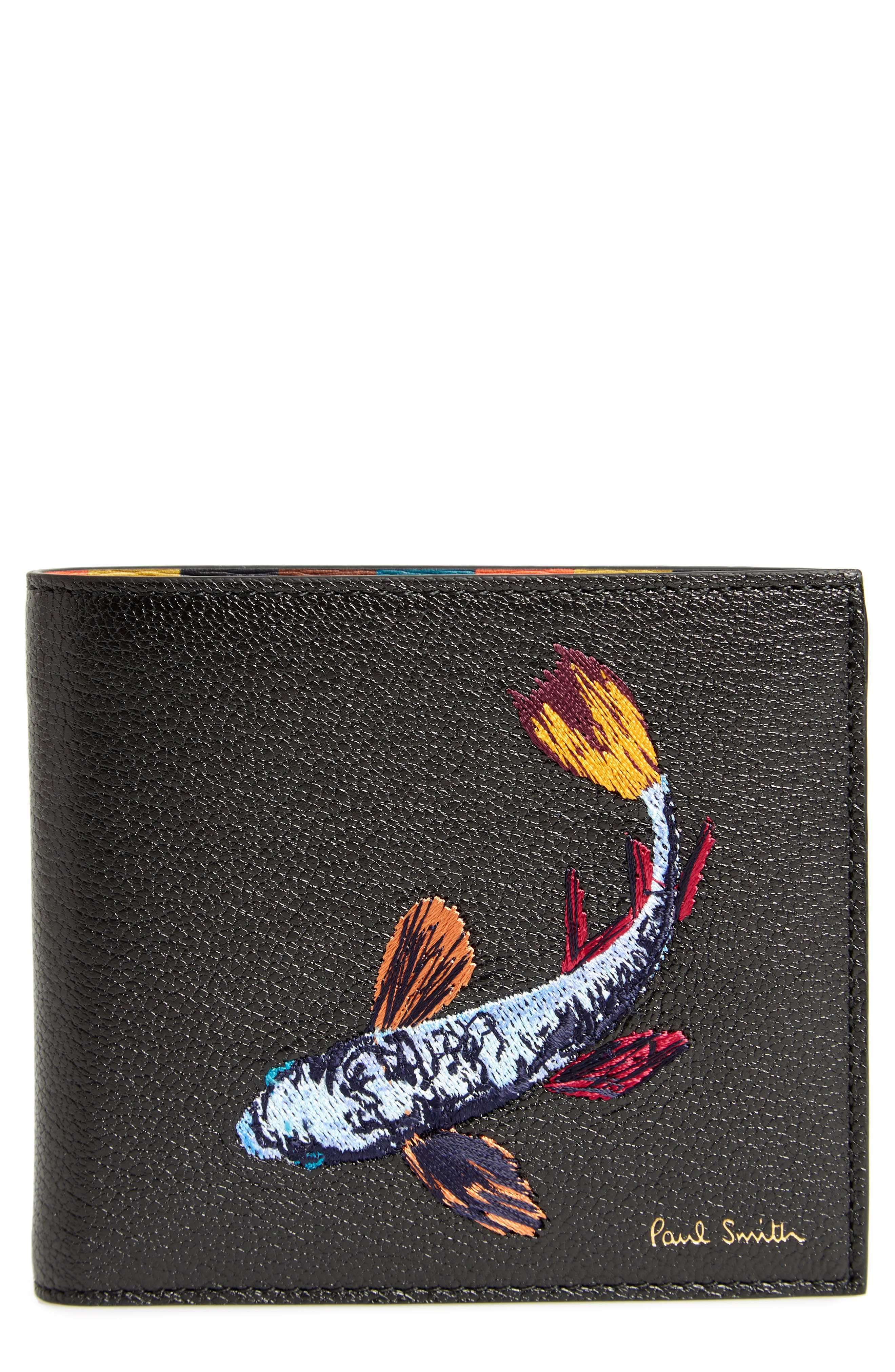 Paul Smith Embroidered Fish Leather Wallet