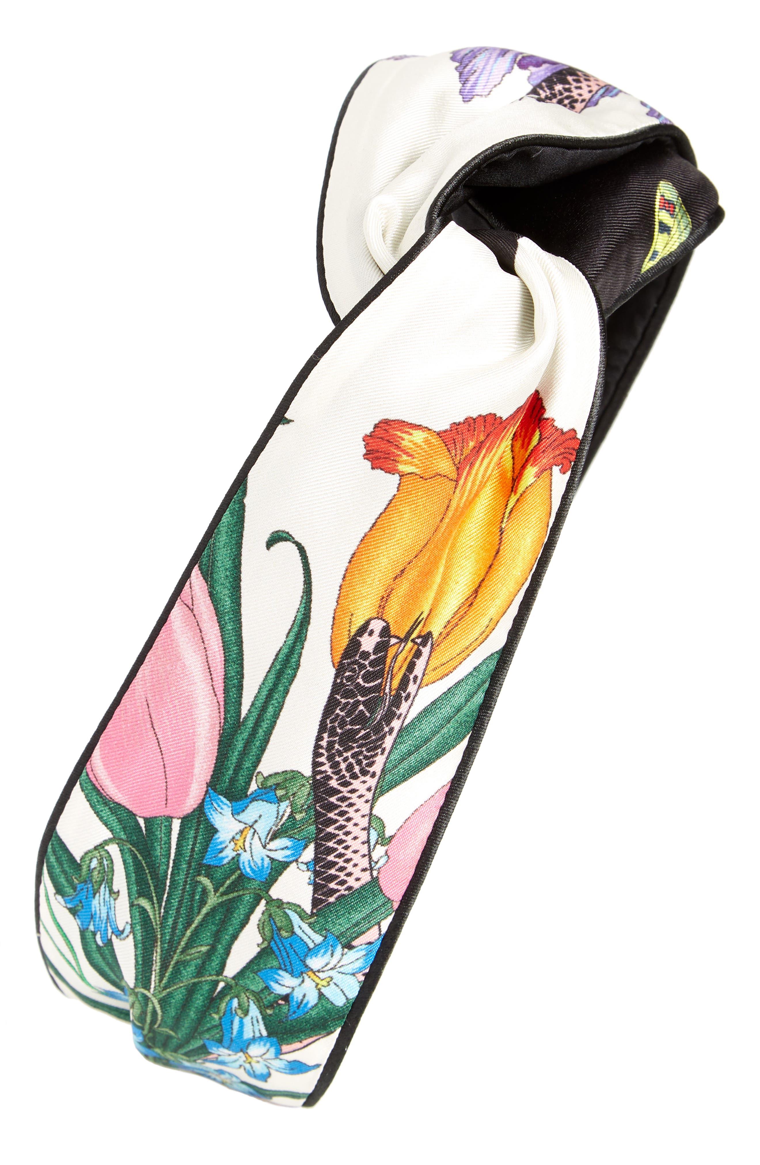 Gucci Flora Snake Silk Head Wrap