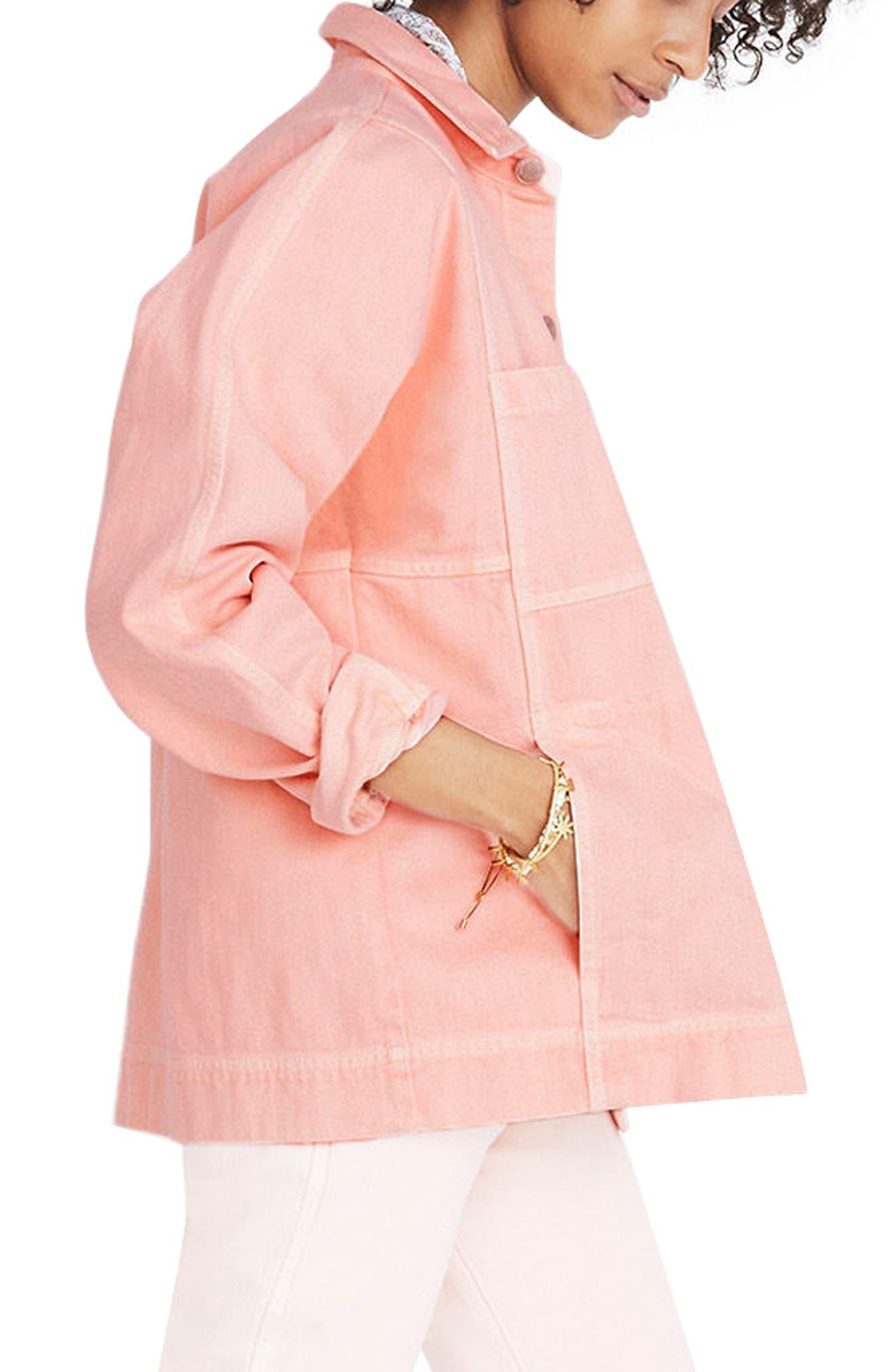 Alternate Image 2  - Madewell Pink Denim Chore Coat