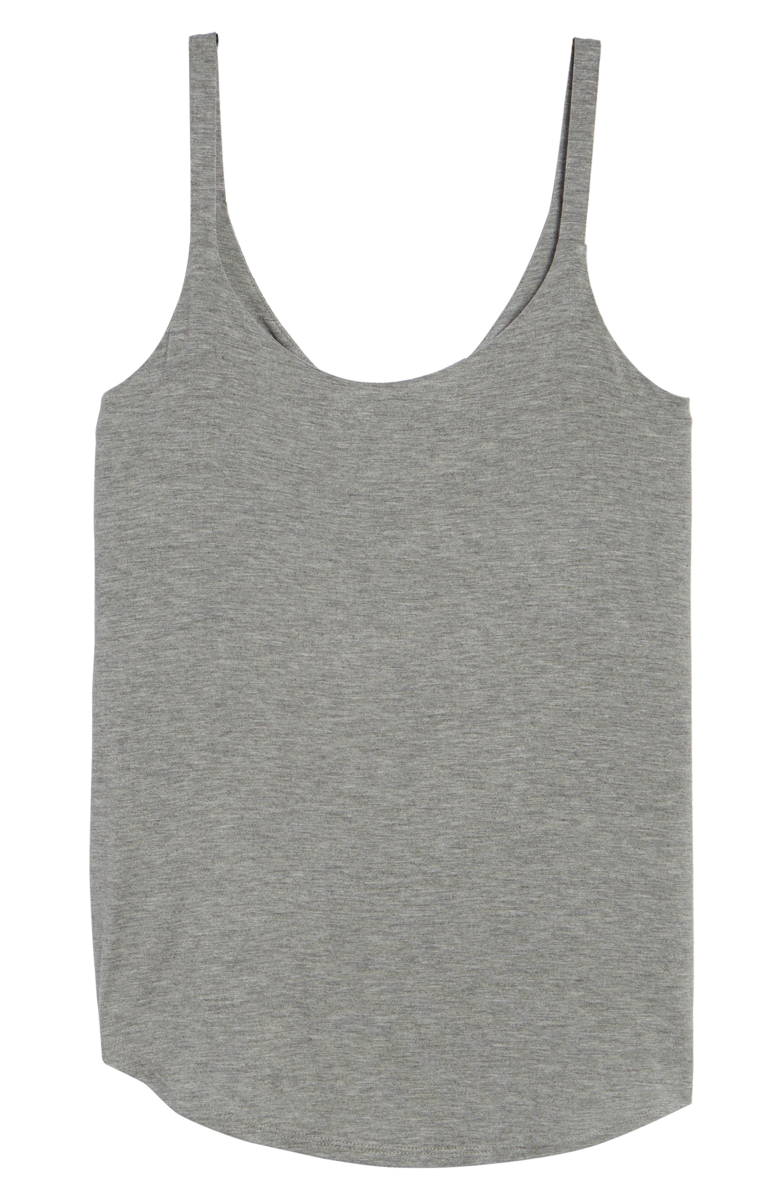 Drape Knit Tank,                             Alternate thumbnail 7, color,                             Grey