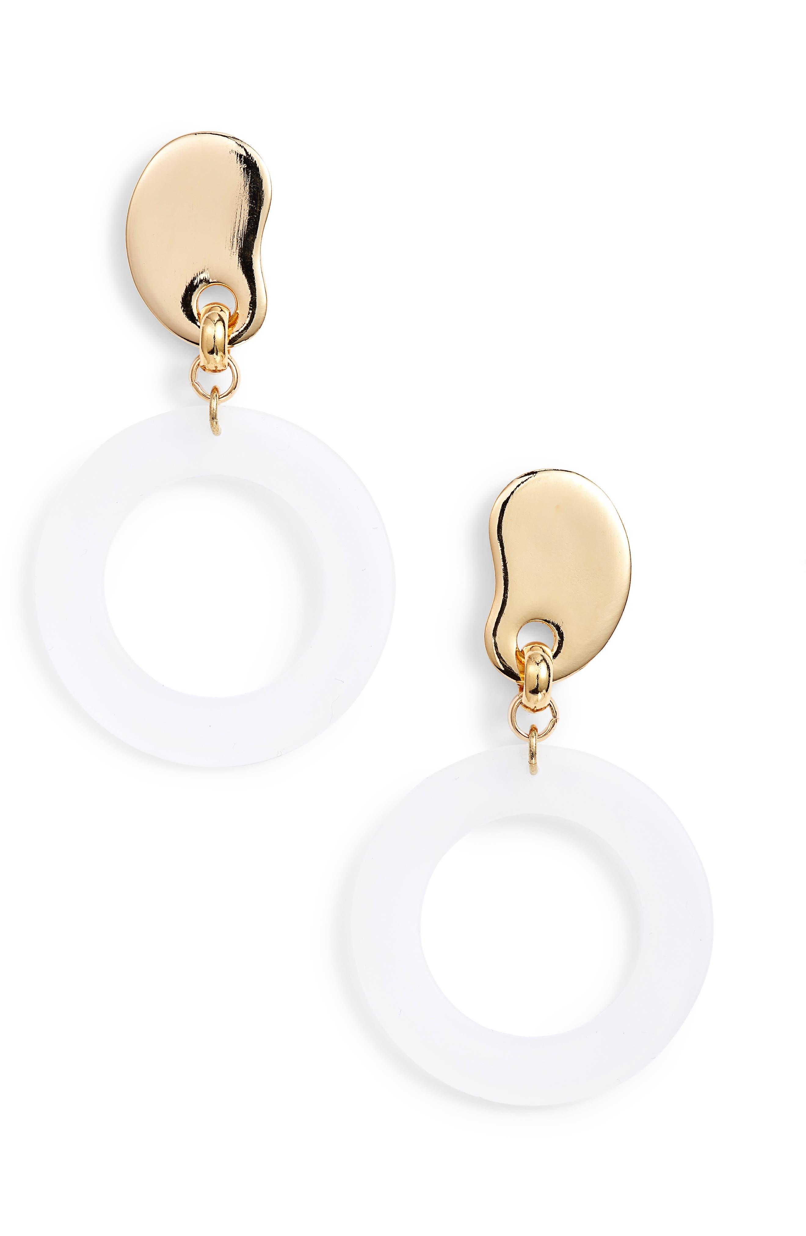 BIKO Amoeba Lucite® Hoop Earrings