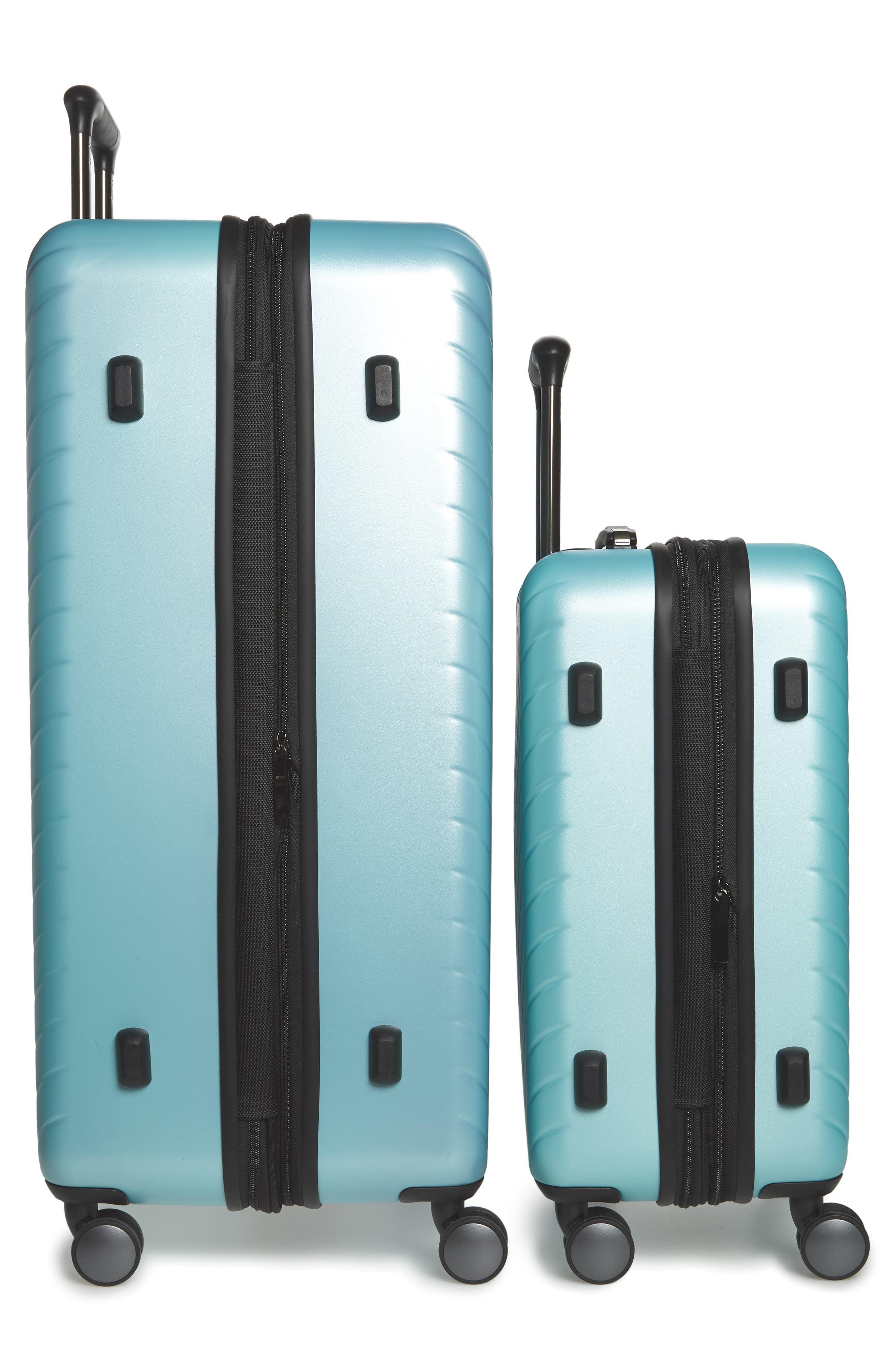 Chevron 29-Inch & 18-Inch Spinner Luggage Set,                             Alternate thumbnail 3, color,                             Teal Surf