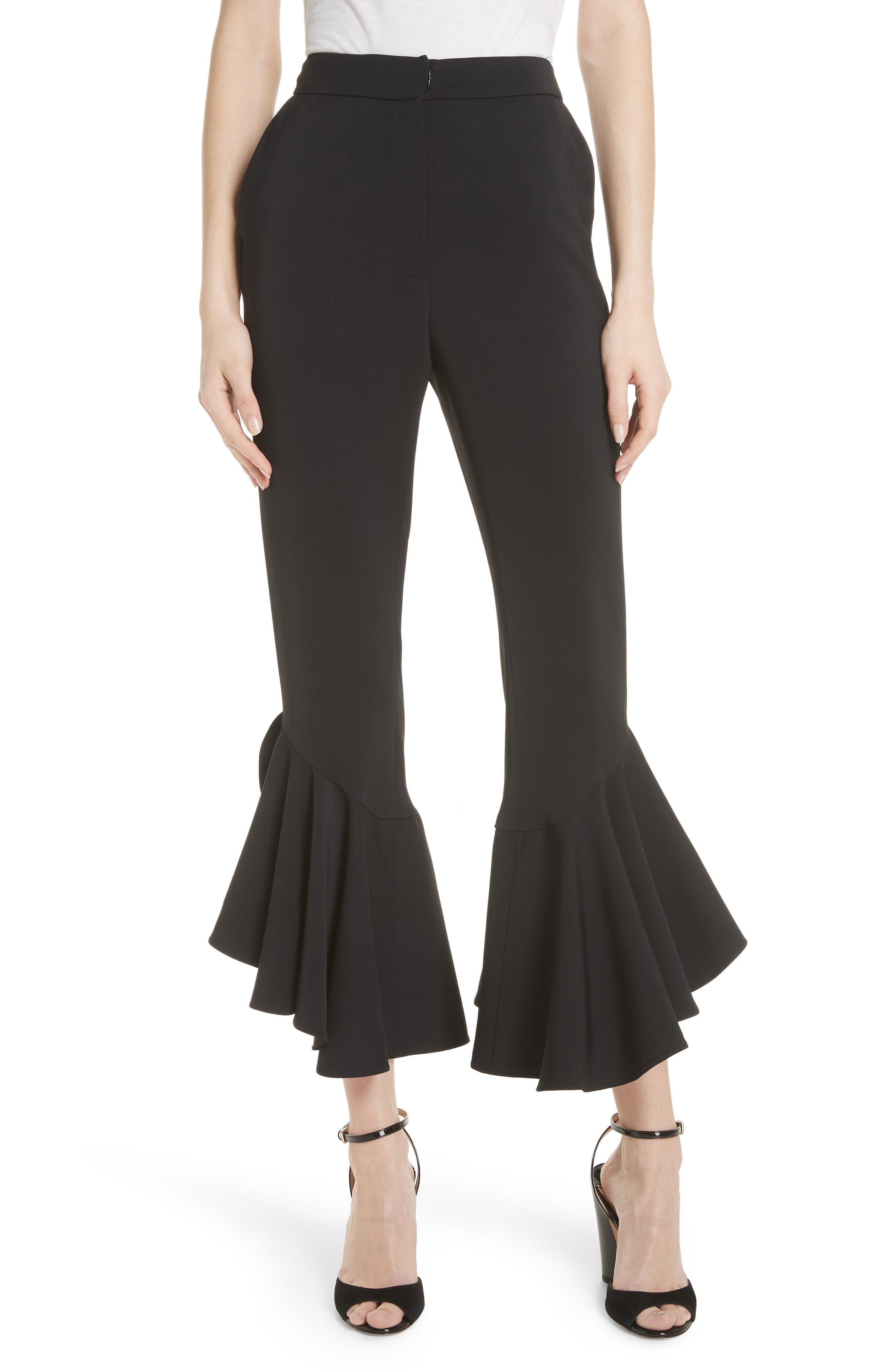 Ruffle Pants,                         Main,                         color, Black