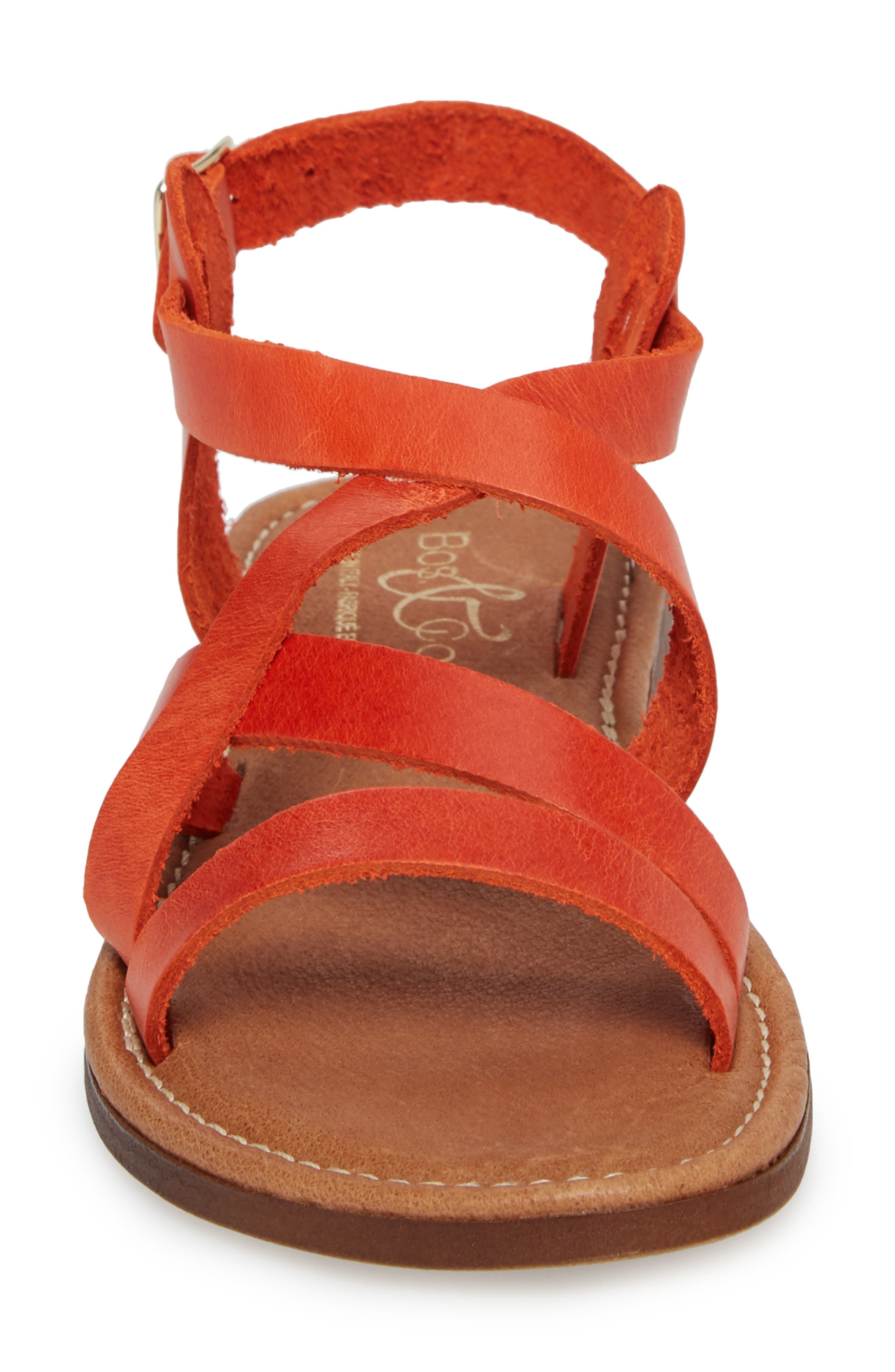 Ionna Sandal,                             Alternate thumbnail 4, color,                             Tangerine Leather