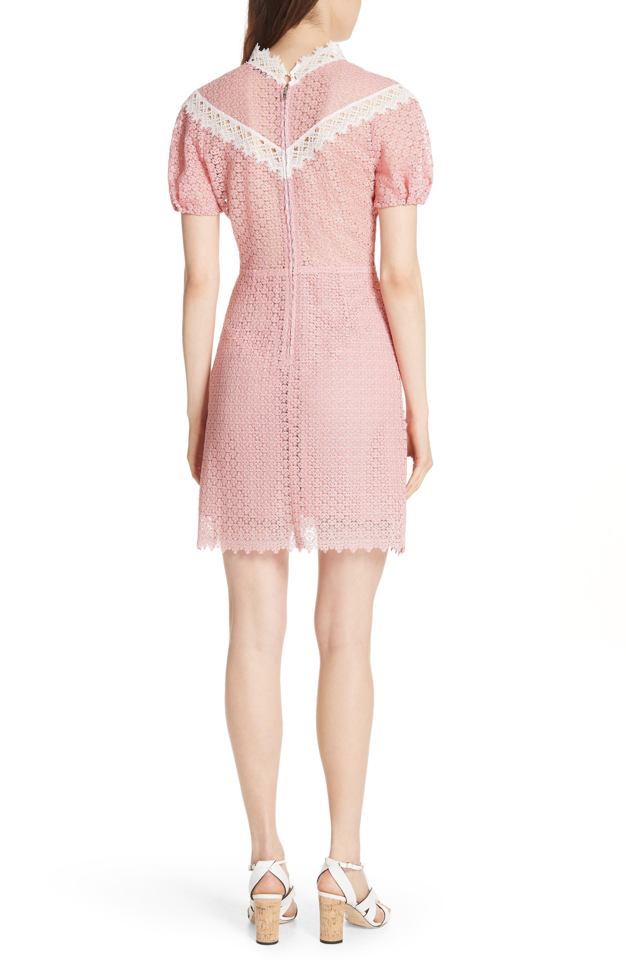 Lace Dress,                             Alternate thumbnail 2, color,                             Peony