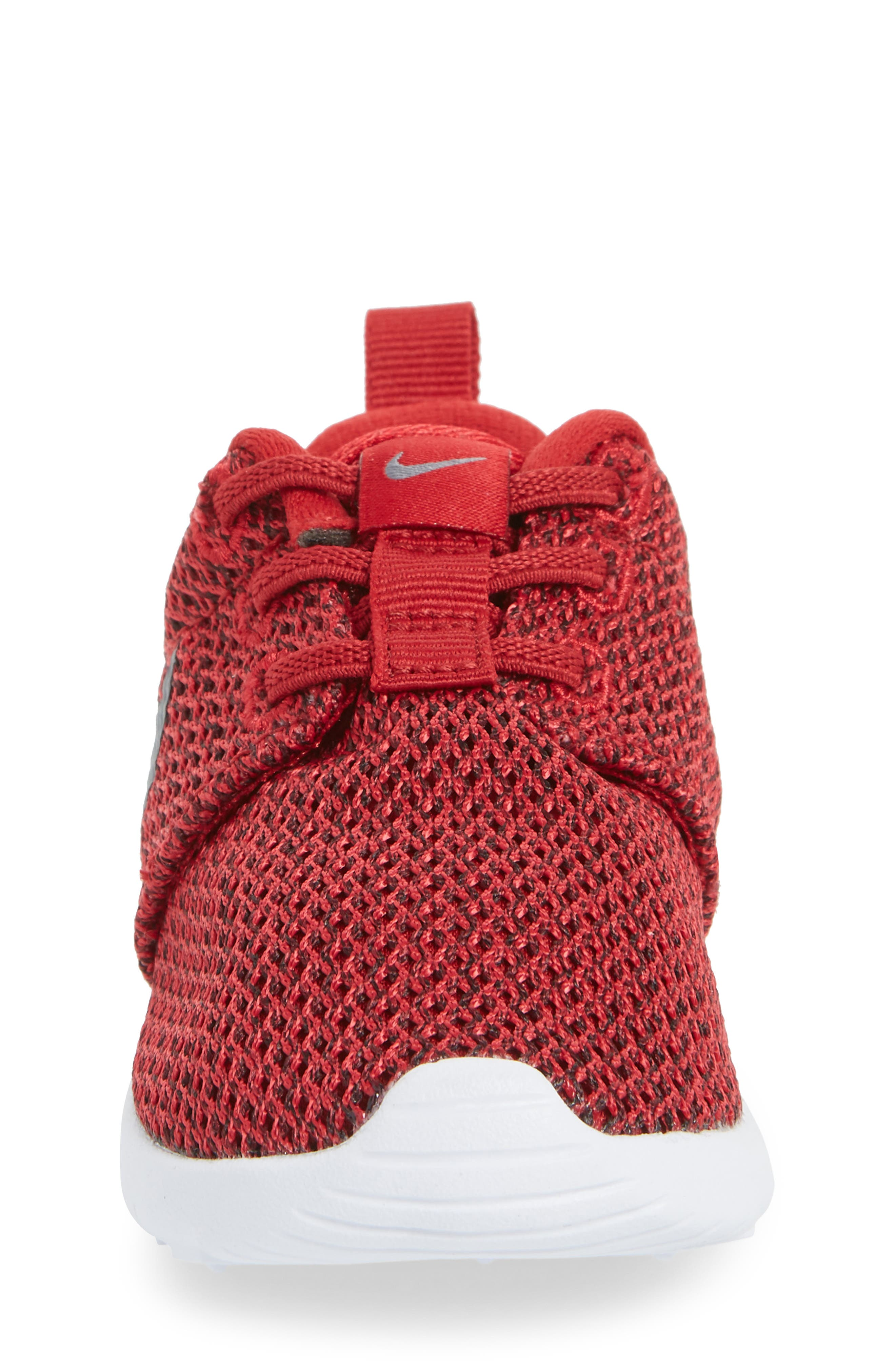 'Roshe Run' Sneaker,                             Alternate thumbnail 4, color,                             Gym Red/ Cool Grey/ Anthracite