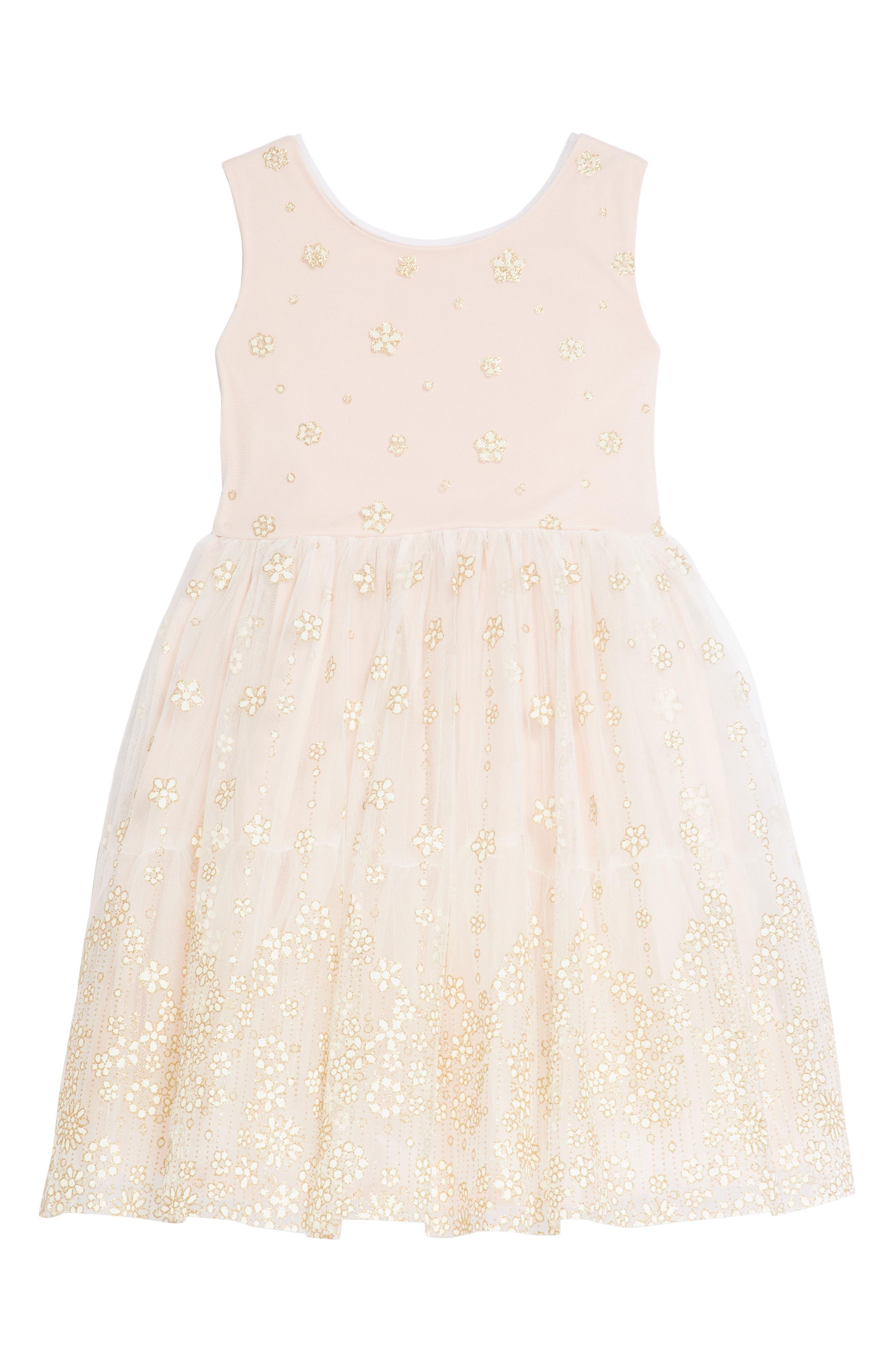 Main Image - Frais Glitter Mesh Tulle Dress (Toddler Girls, Little Girls & Big Girls)