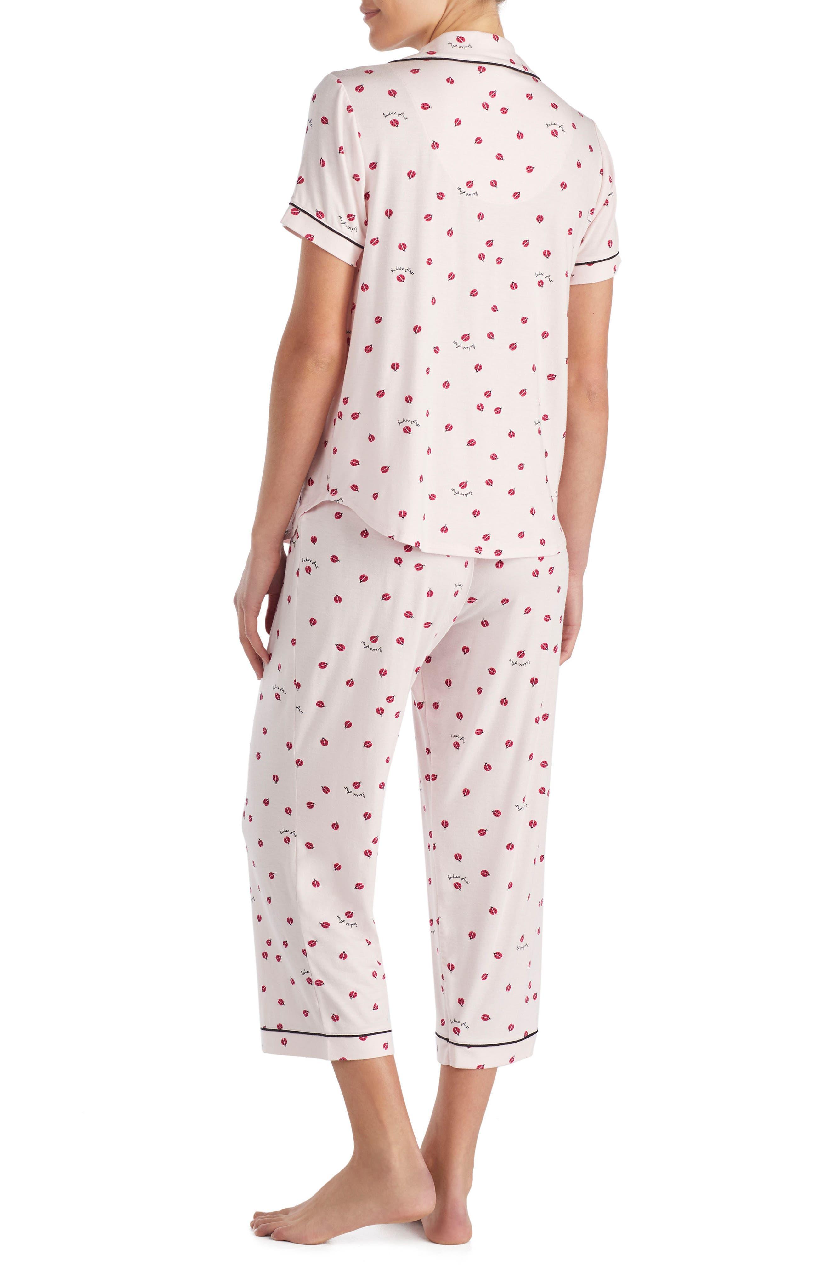 capri pajamas,                             Alternate thumbnail 2, color,                             Ladybug