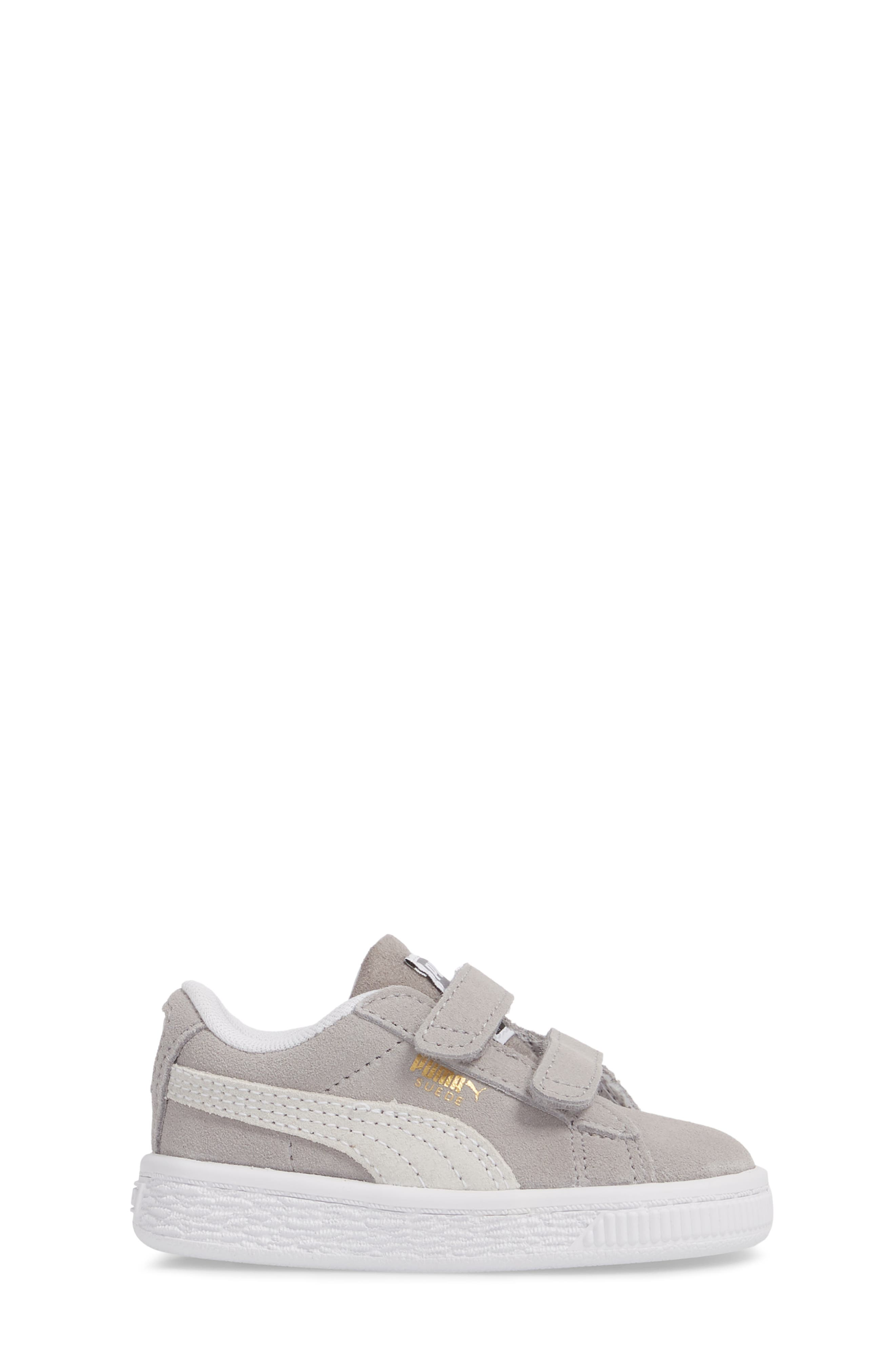 Suede Classic Sneaker,                             Alternate thumbnail 3, color,                             Ash/ Puma White
