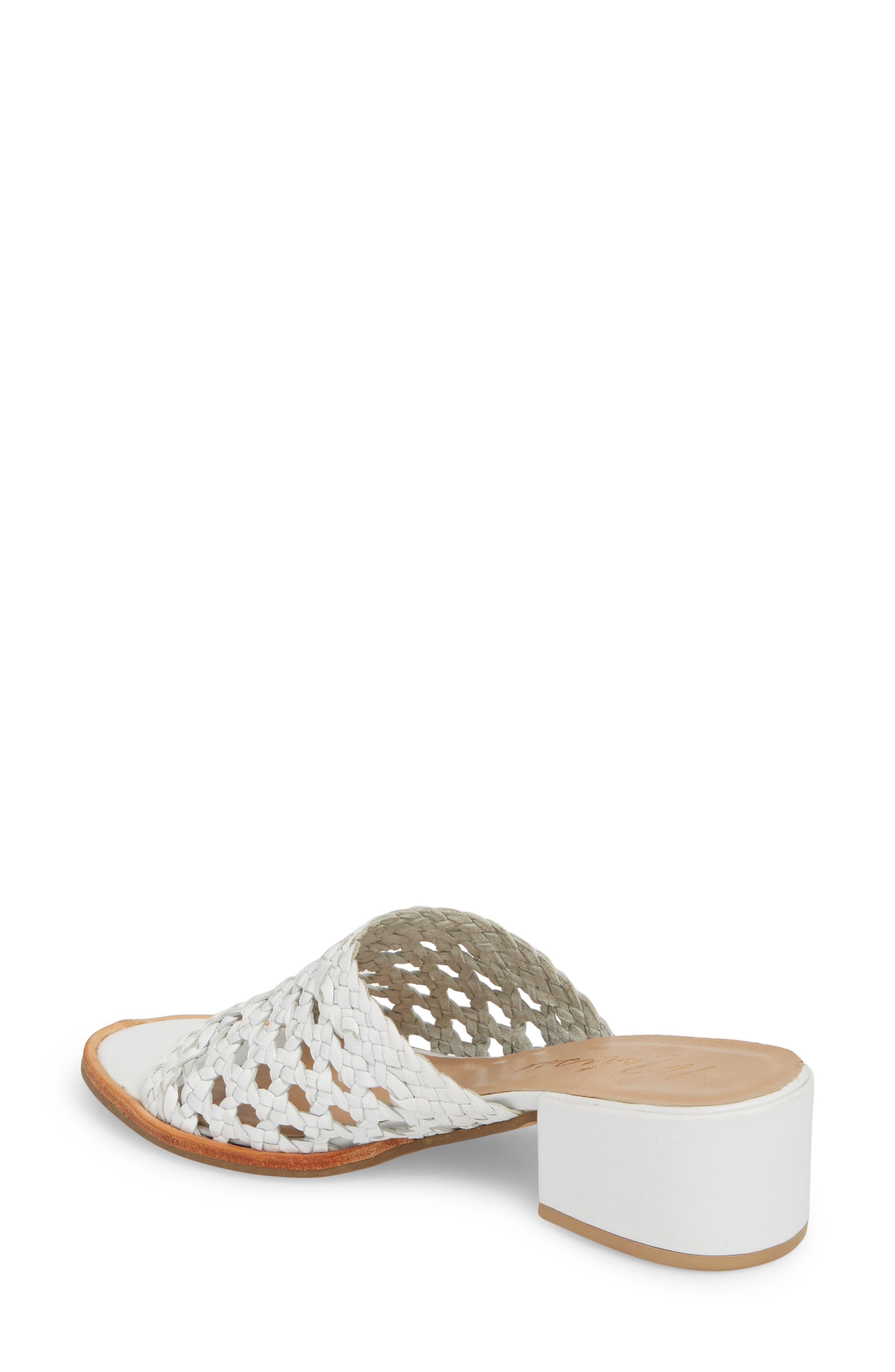 Ditsy Slide Sandal,                             Alternate thumbnail 2, color,                             White Leather