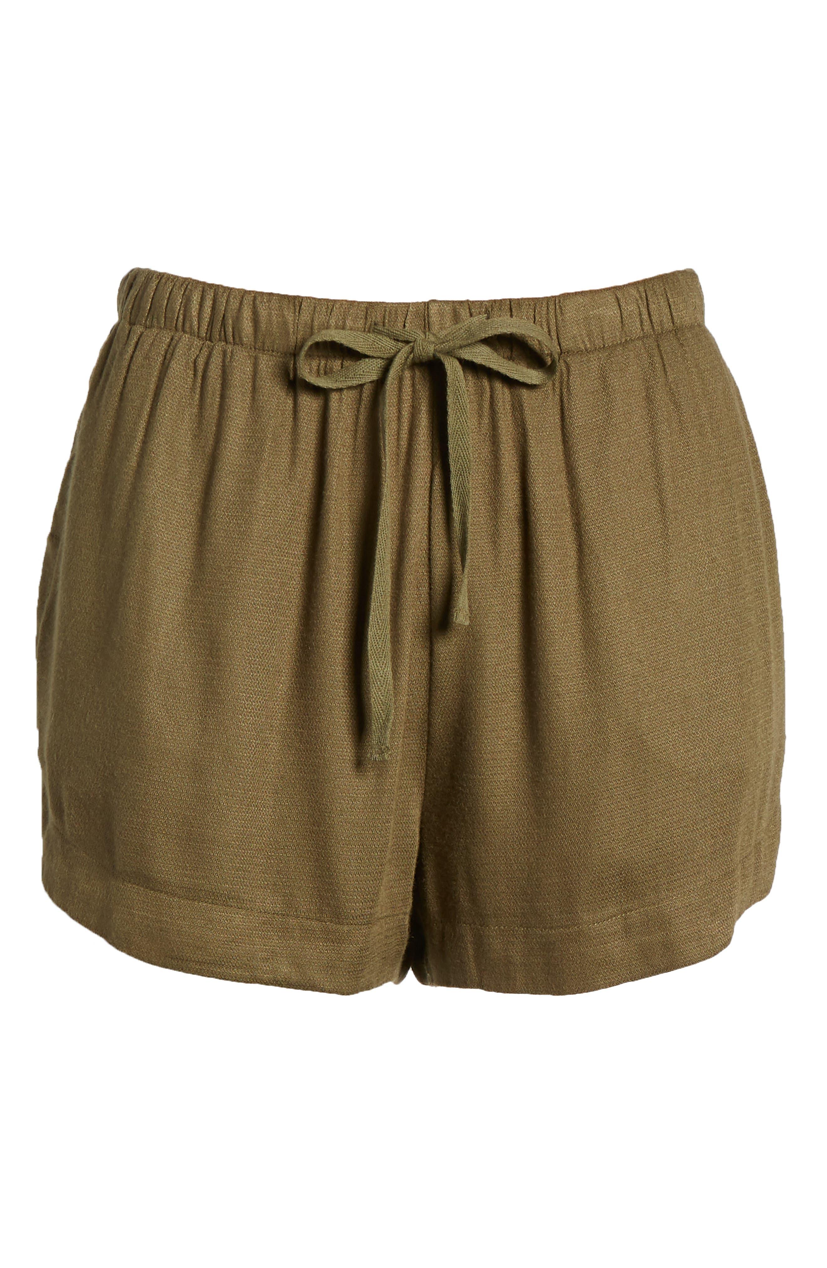 Vary Yume Shorts,                             Alternate thumbnail 7, color,                             Burnt Olive