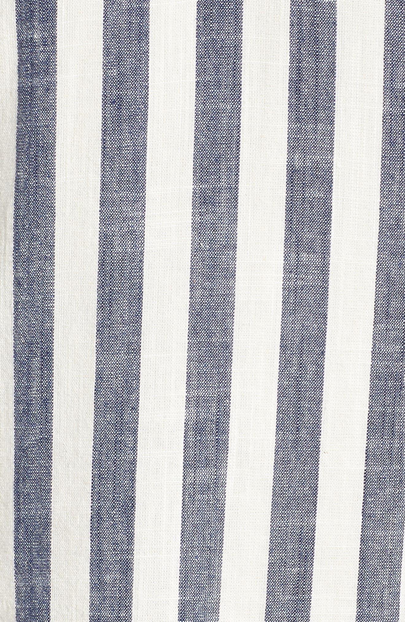 Ruffle Sleeve Shift Dress,                             Alternate thumbnail 6, color,                             Navy-White
