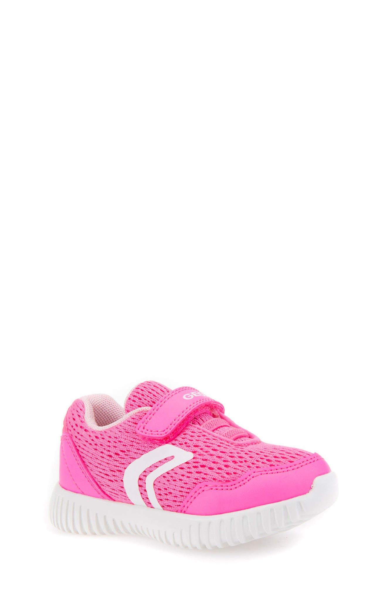 Waviness Sneaker,                             Main thumbnail 1, color,                             Fluorescent Fuchsia