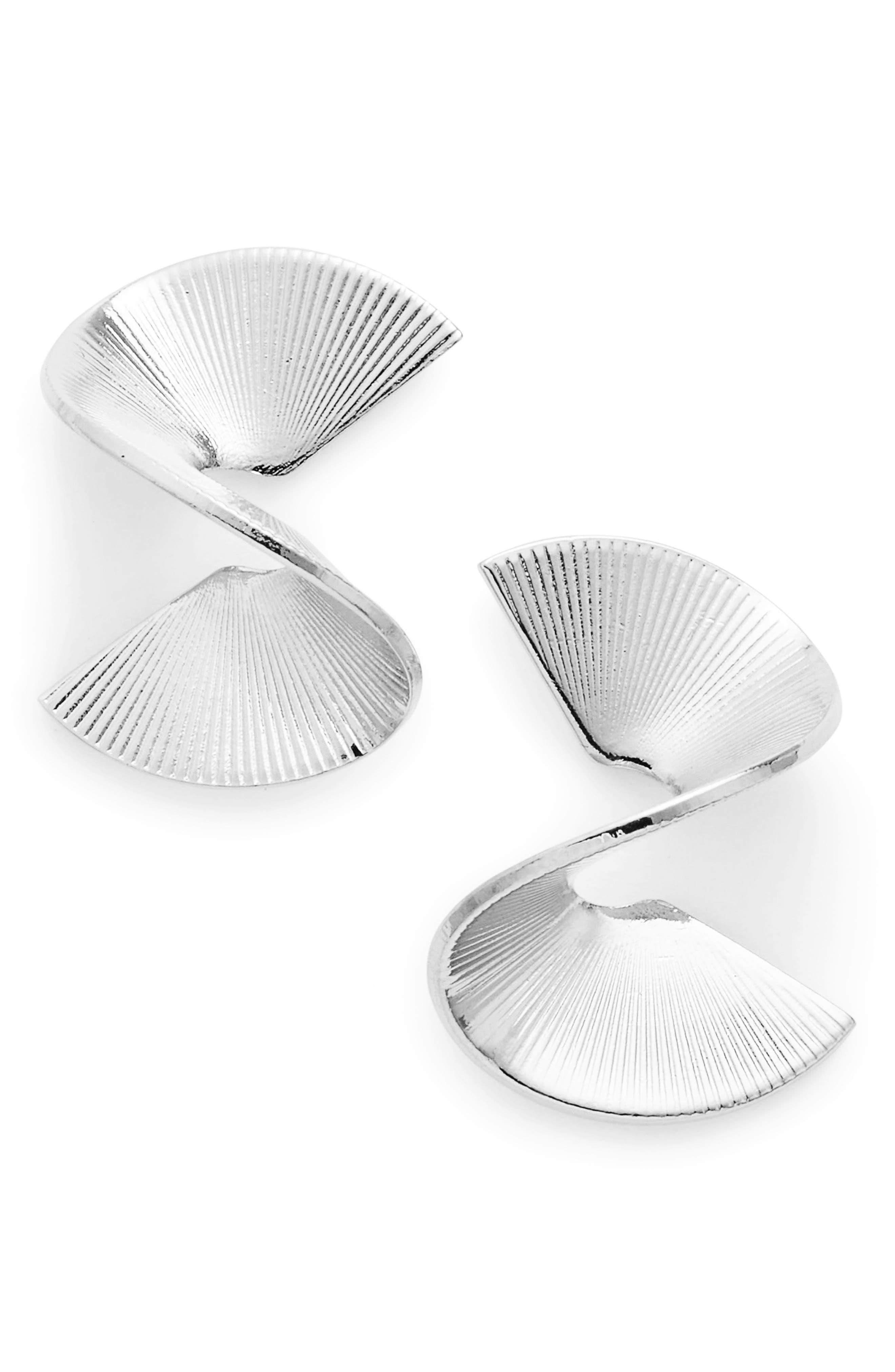 Solarwave Mini Stud Earrings,                         Main,                         color, Silver