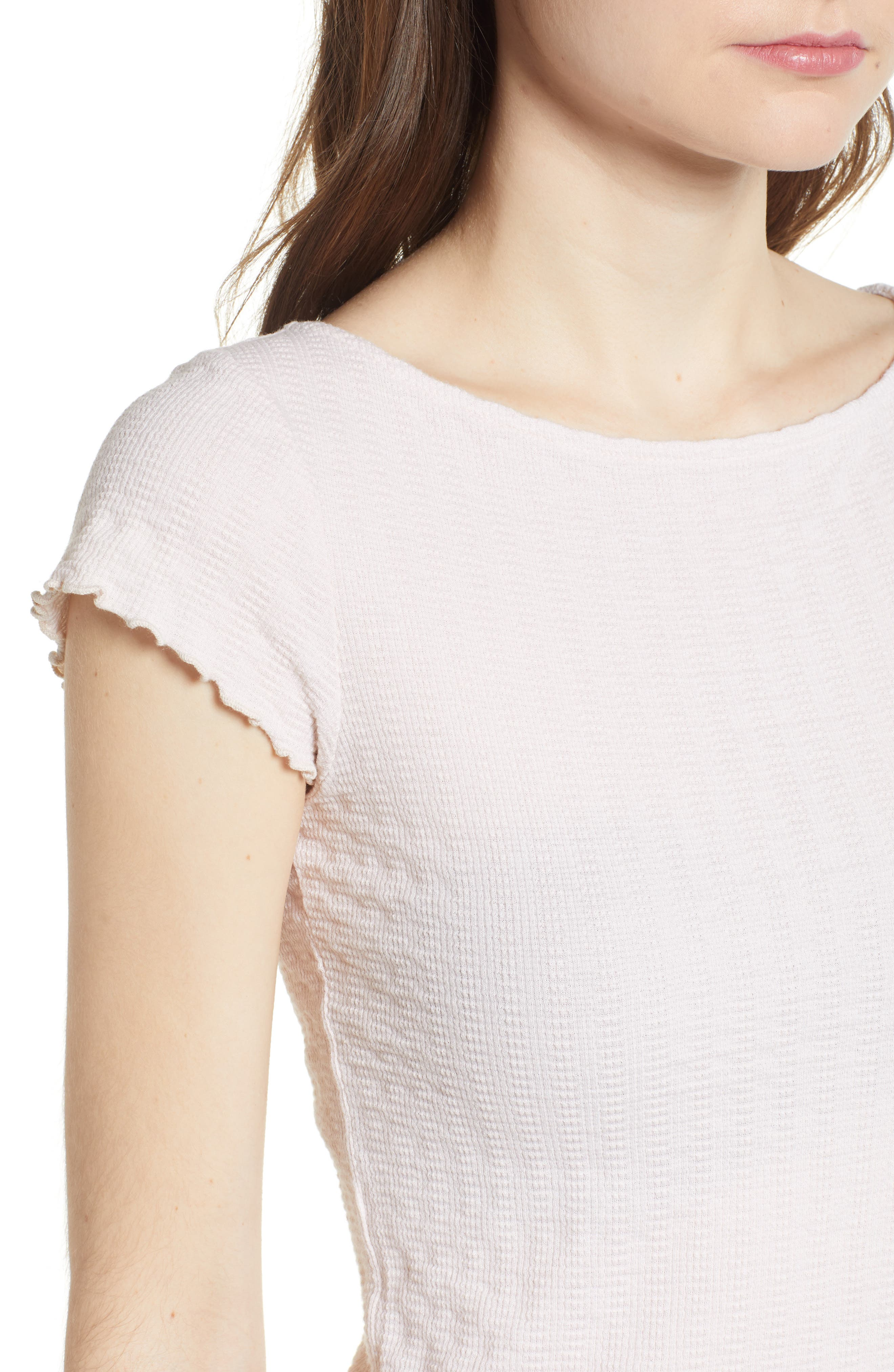 Lettuce Edge Crop Tee,                             Alternate thumbnail 4, color,                             Shell
