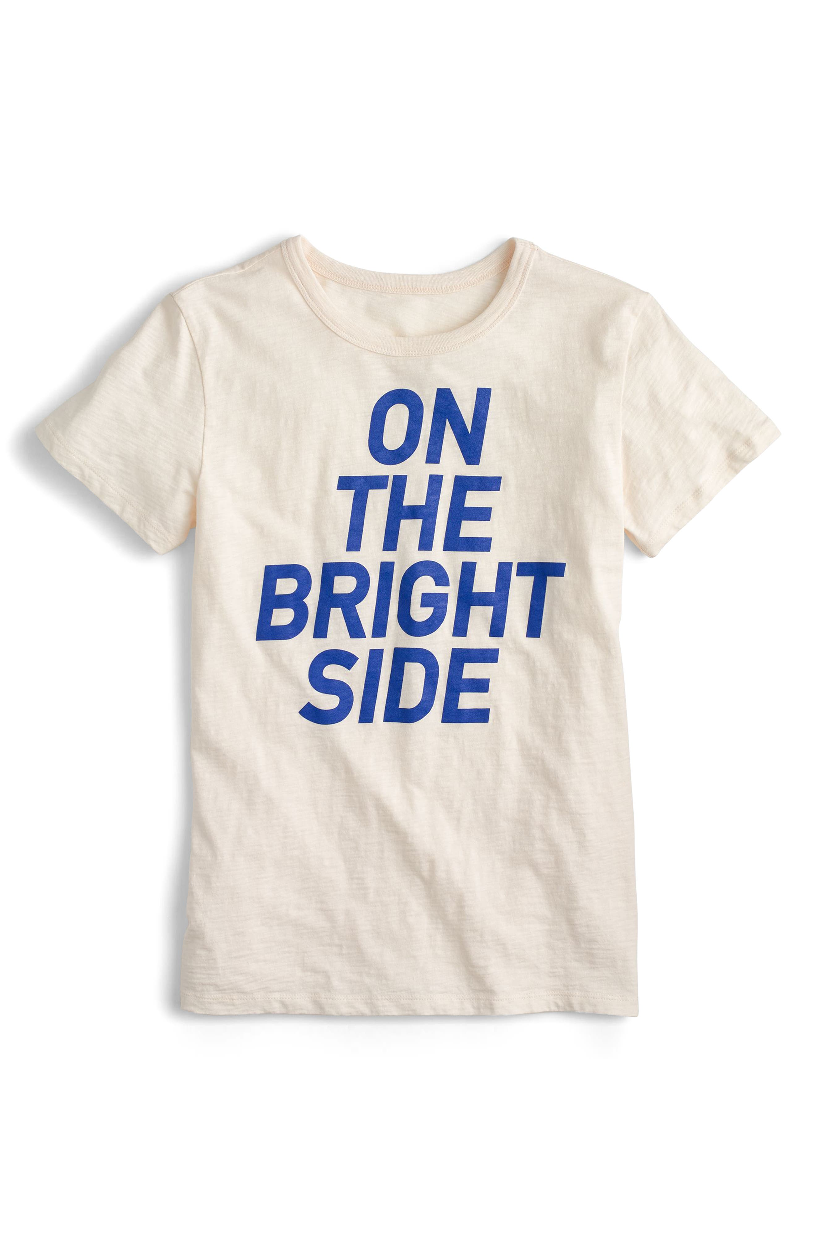 J.Crew On the Bright Side Tee,                         Main,                         color, Ivory