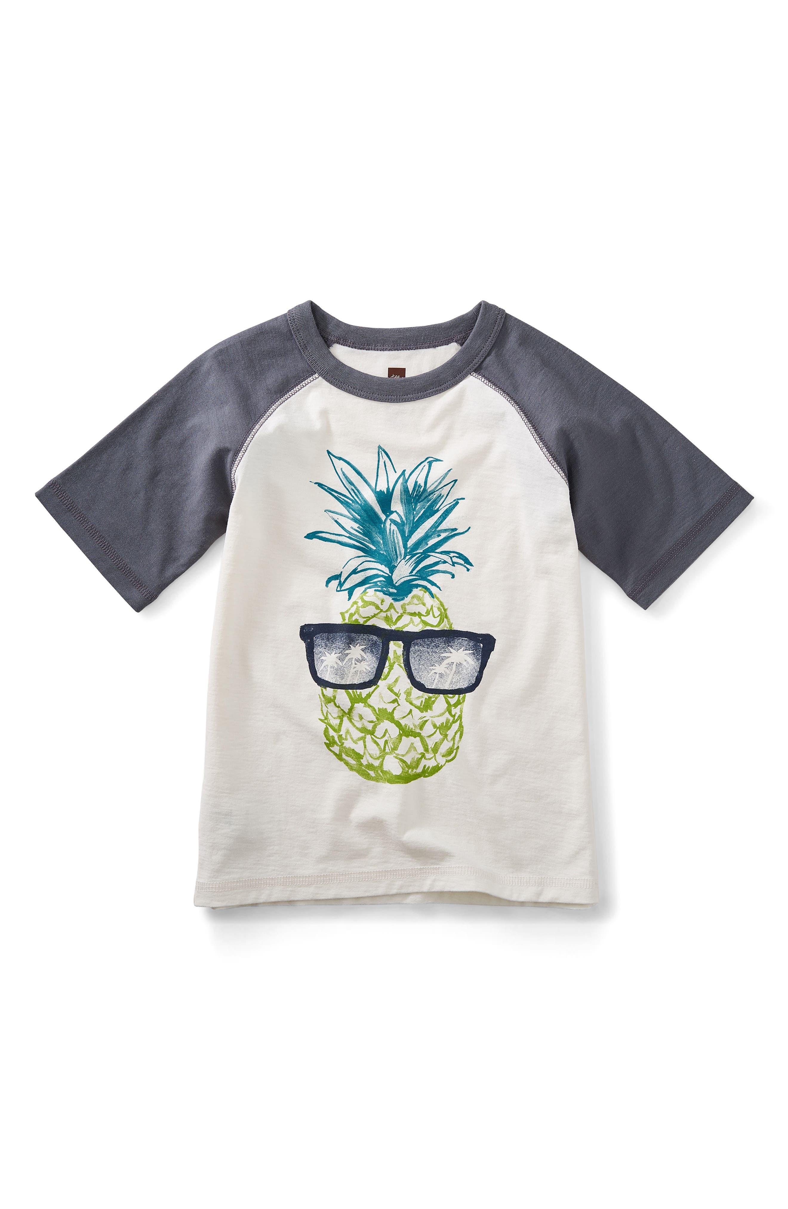 Tea Collection Sunshine Pineapple Graphic Shirt (Toddler Boys, Little Boys & Big Boys)