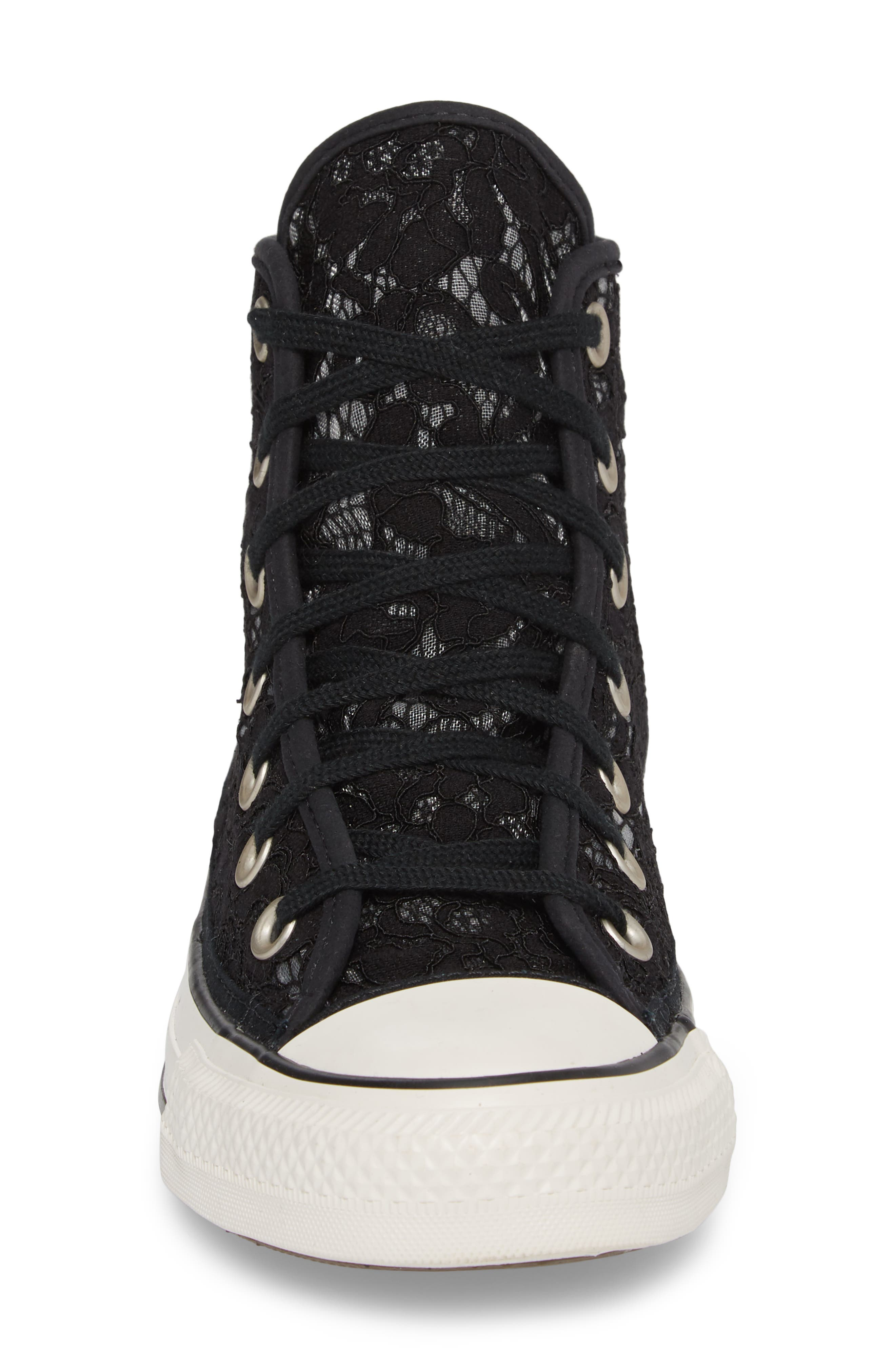 Chuck Taylor<sup>®</sup> All Star Lace High-Top Sneaker,                             Alternate thumbnail 4, color,                             Black/ White
