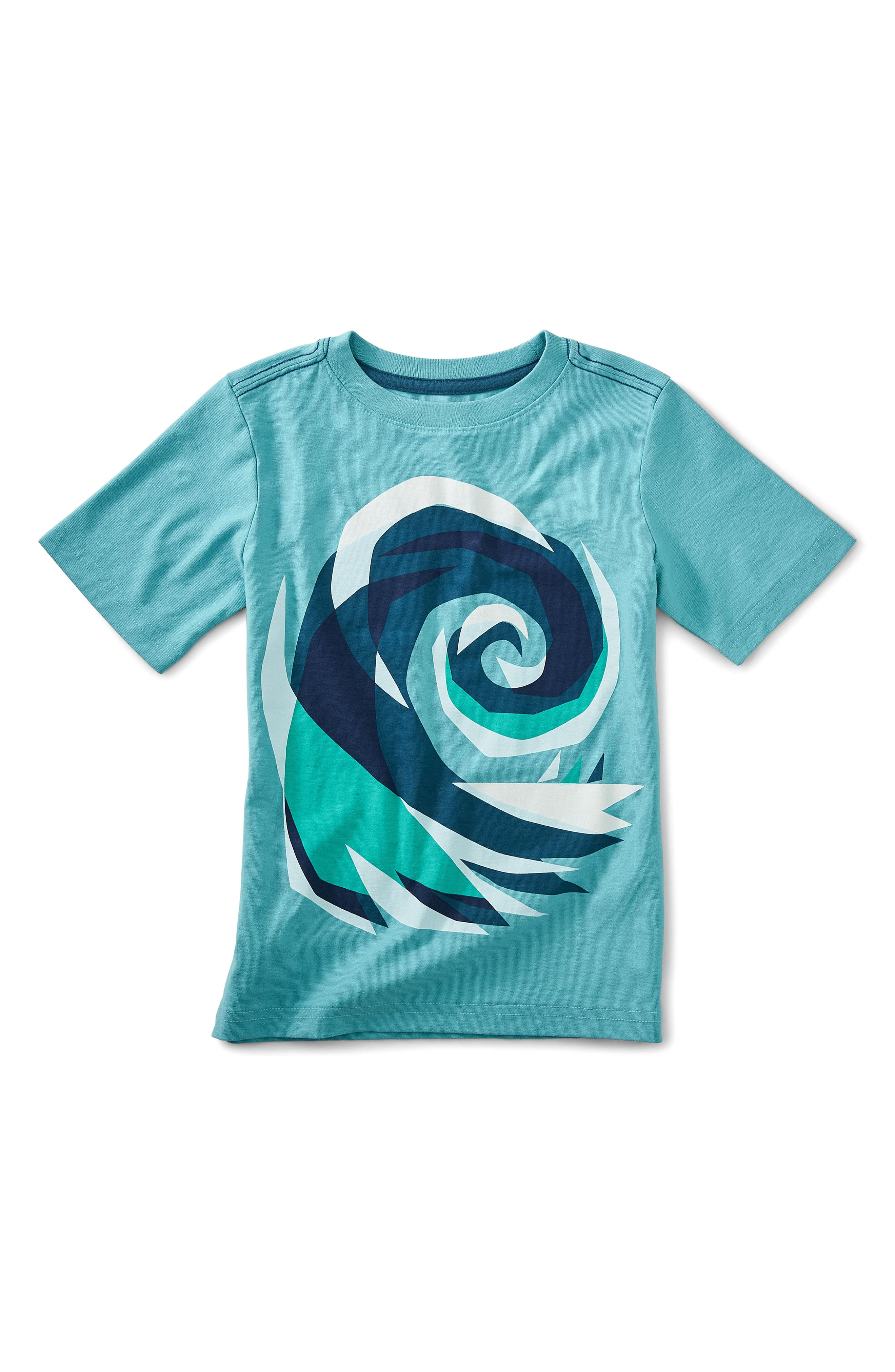 Crashing Wave Graphic T-Shirt,                         Main,                         color, Ciel