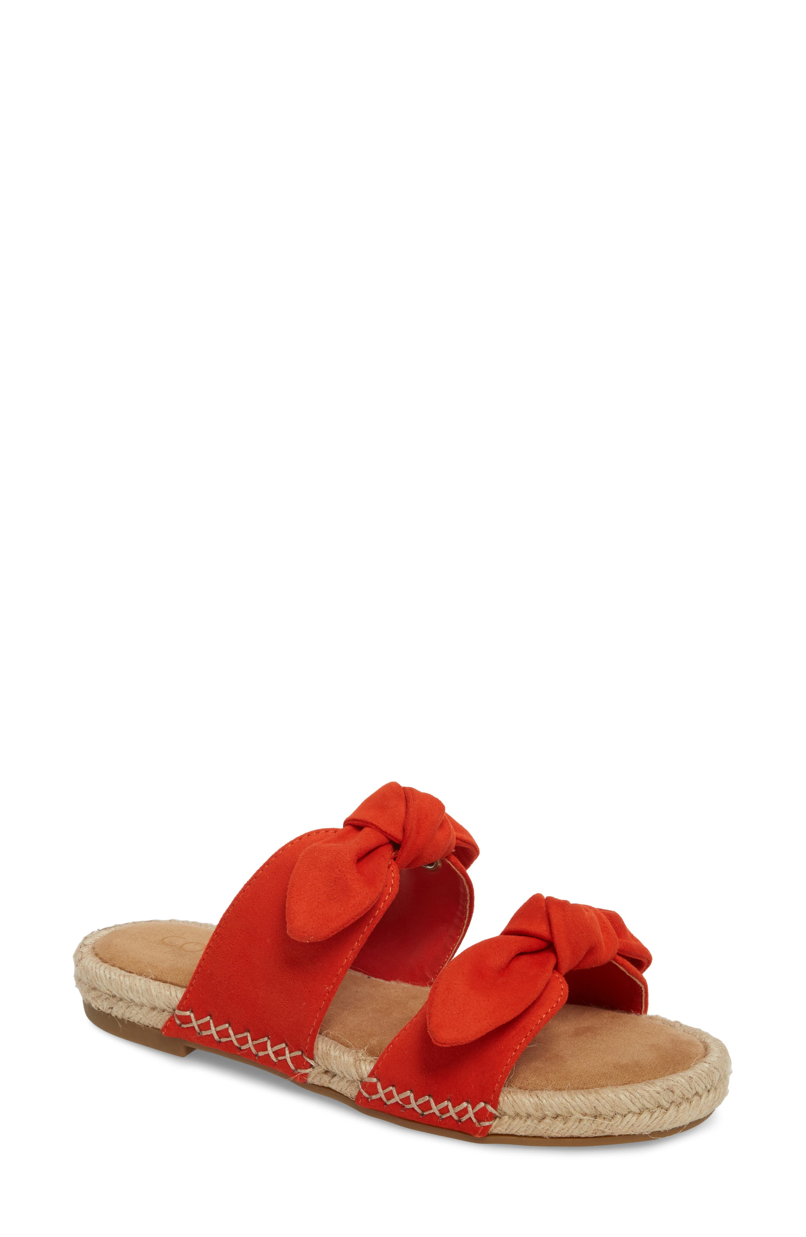 Gianna Espadrille Slide Sandal,                             Main thumbnail 1, color,                             Fire Suede