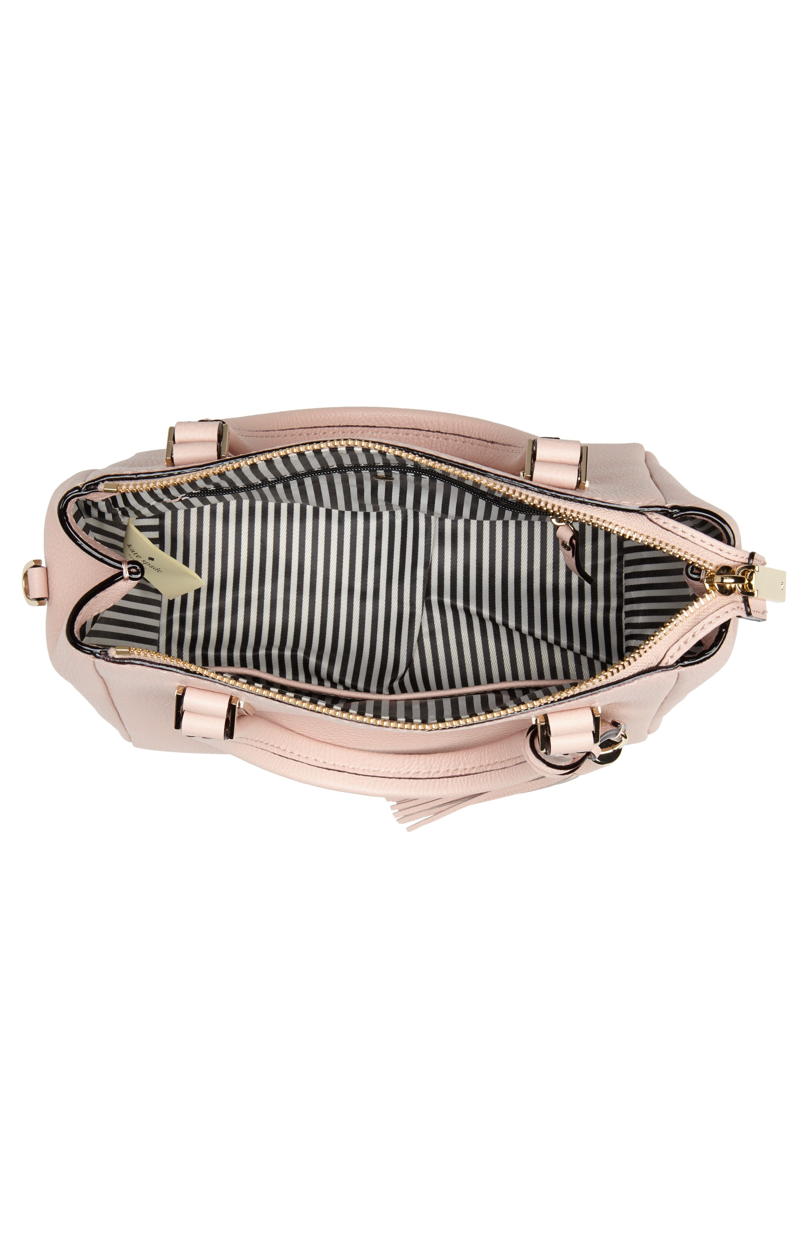 kingston drive - small alena leather satchel,                             Alternate thumbnail 4, color,                             Warm Vellum