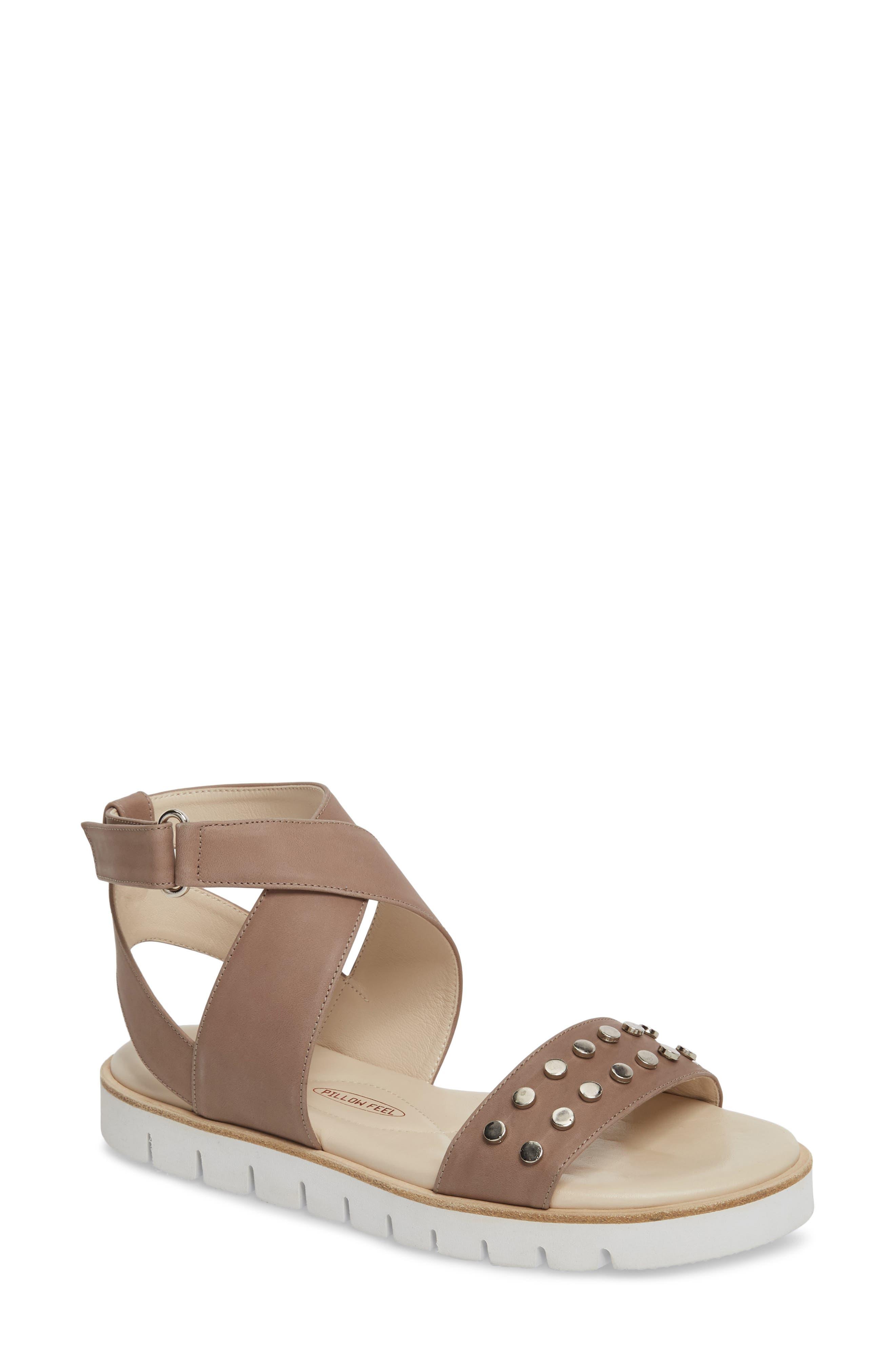 Barlume Sandal,                         Main,                         color, Taupe Leather