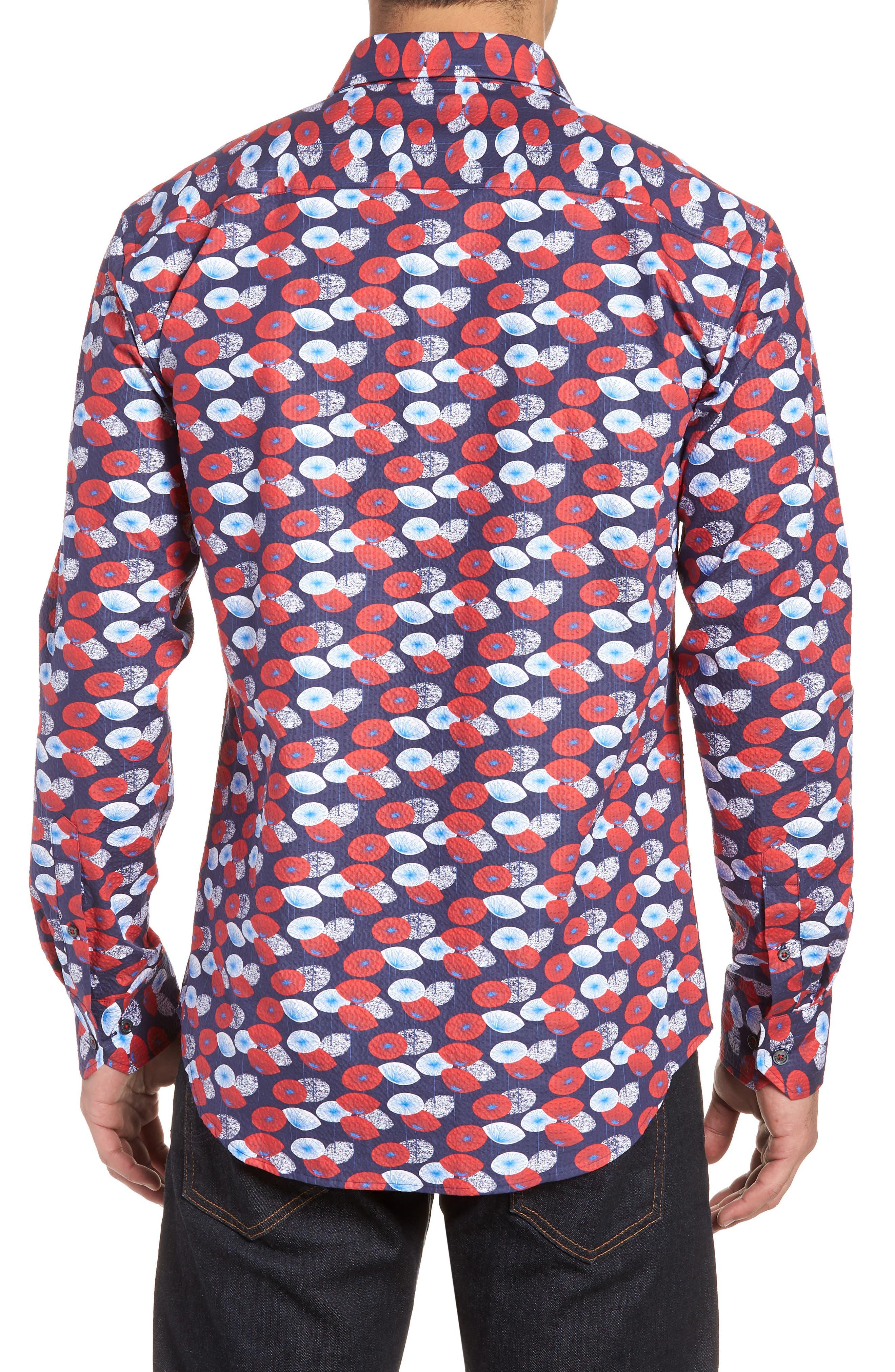 Woven Sport Shirt,                             Alternate thumbnail 2, color,                             Navy