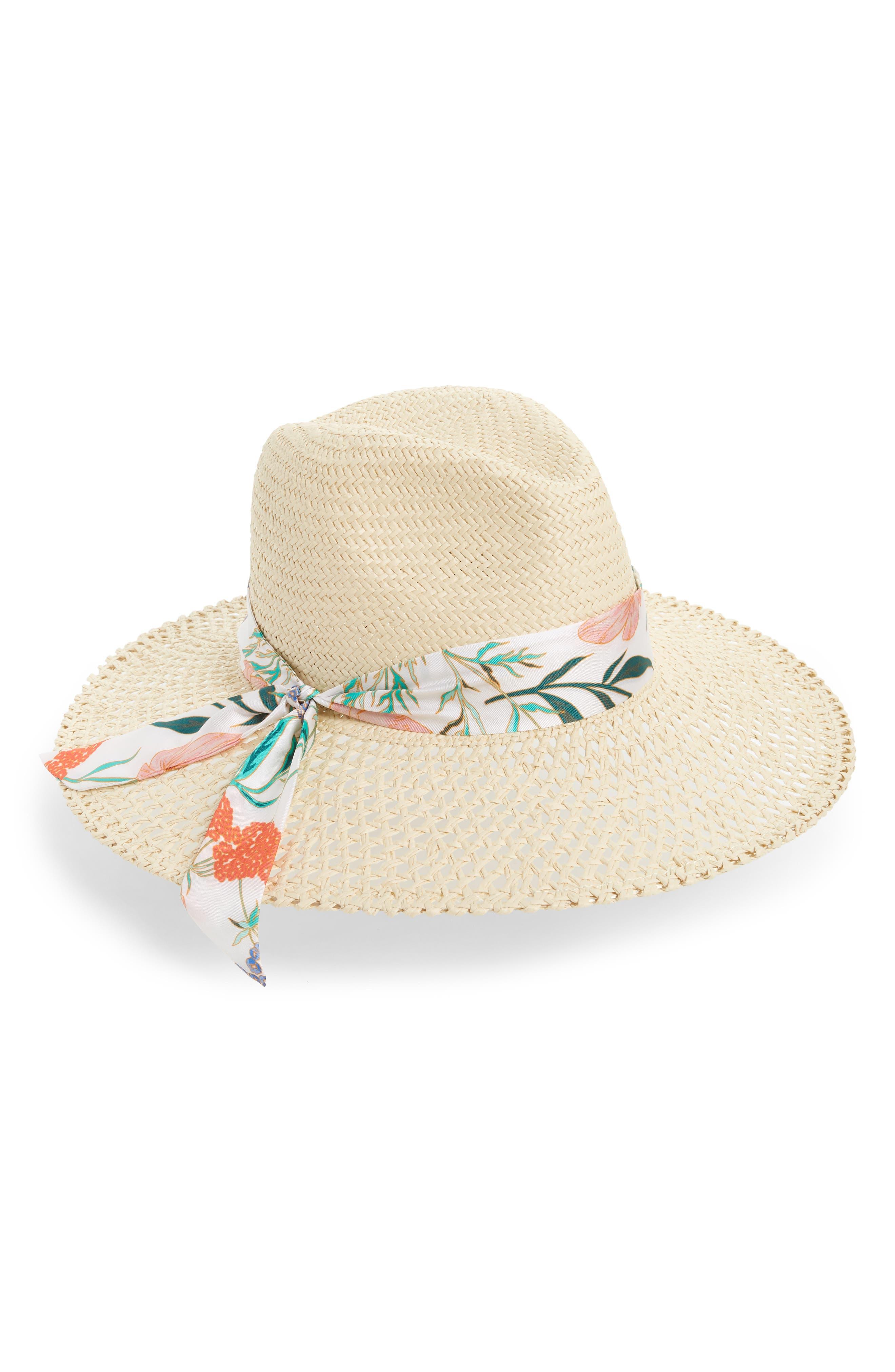 kate spade new york bloom straw fedora