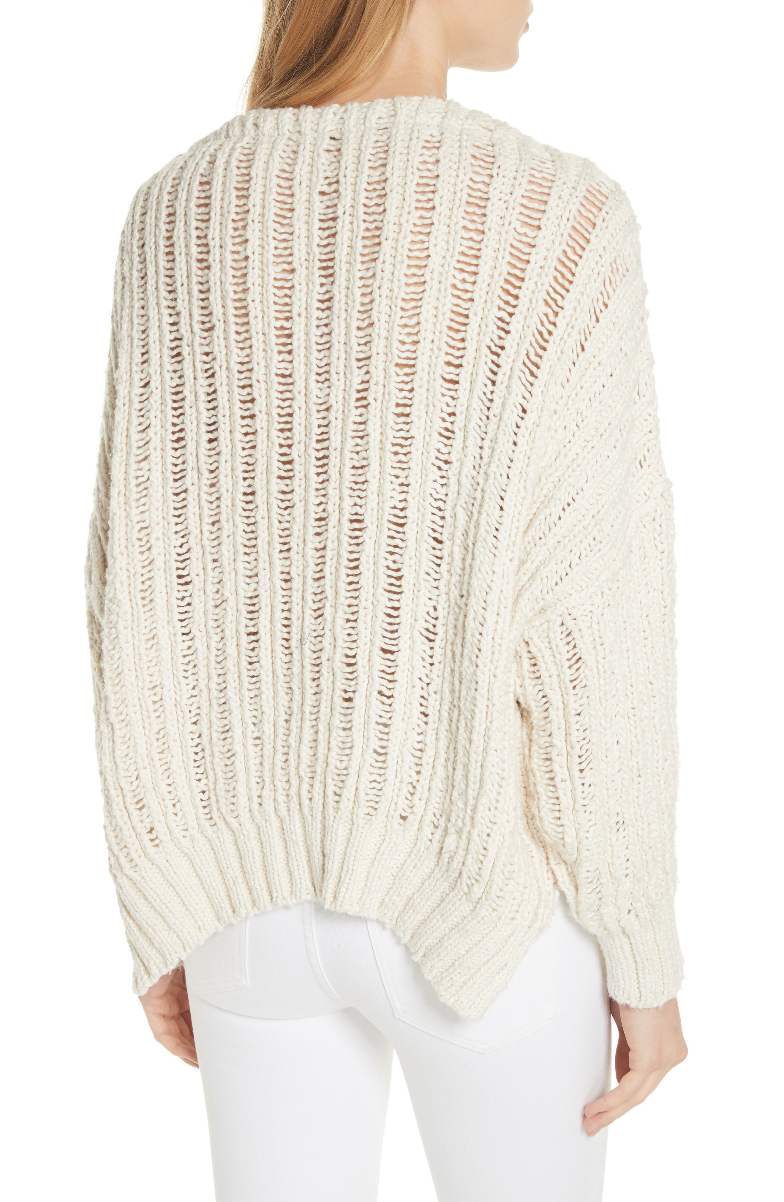 Infinite V-Neck Sweater,                             Alternate thumbnail 2, color,                             Ivory