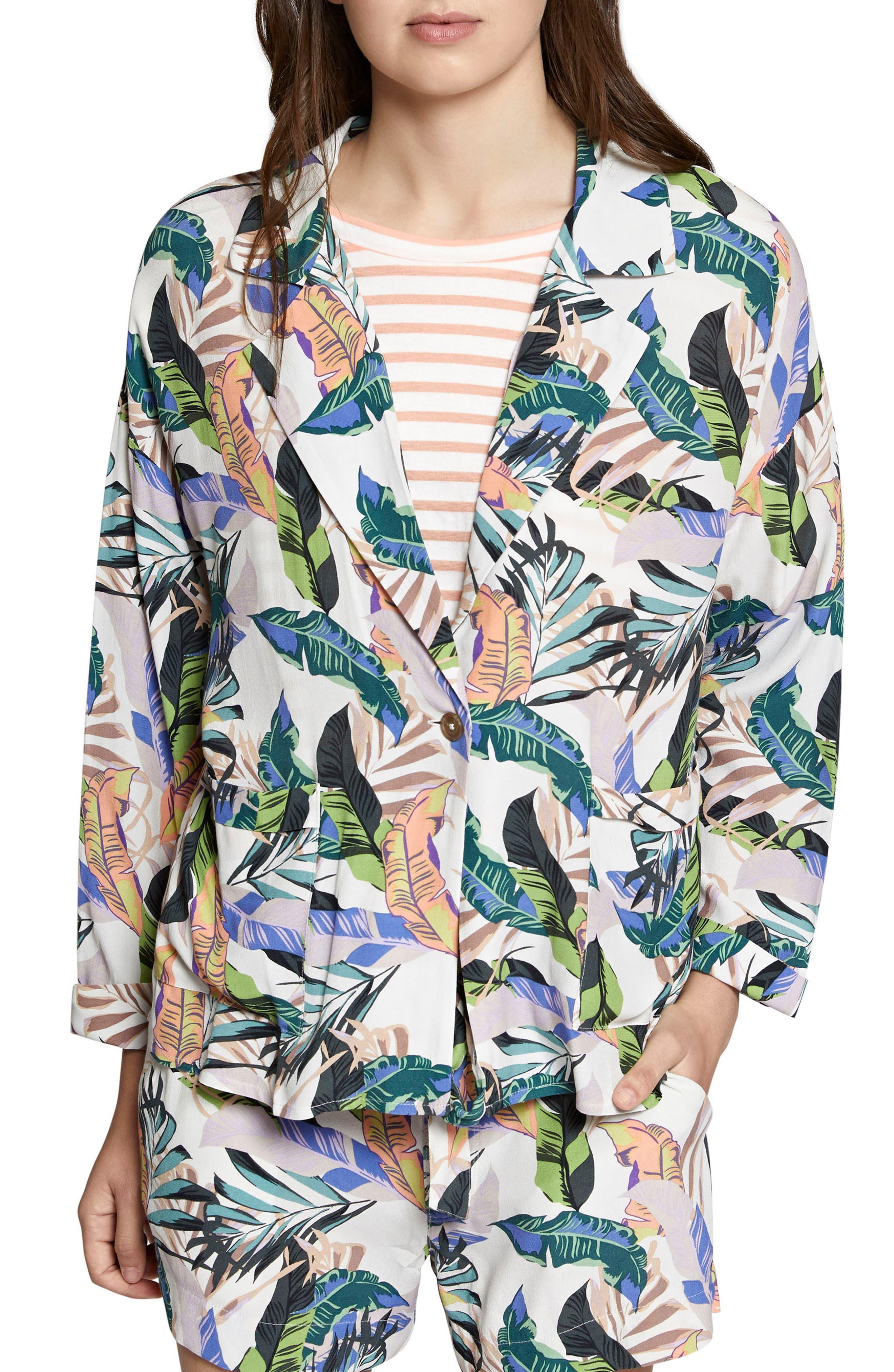 Aurora Print Jacket,                             Main thumbnail 1, color,                             Tropics