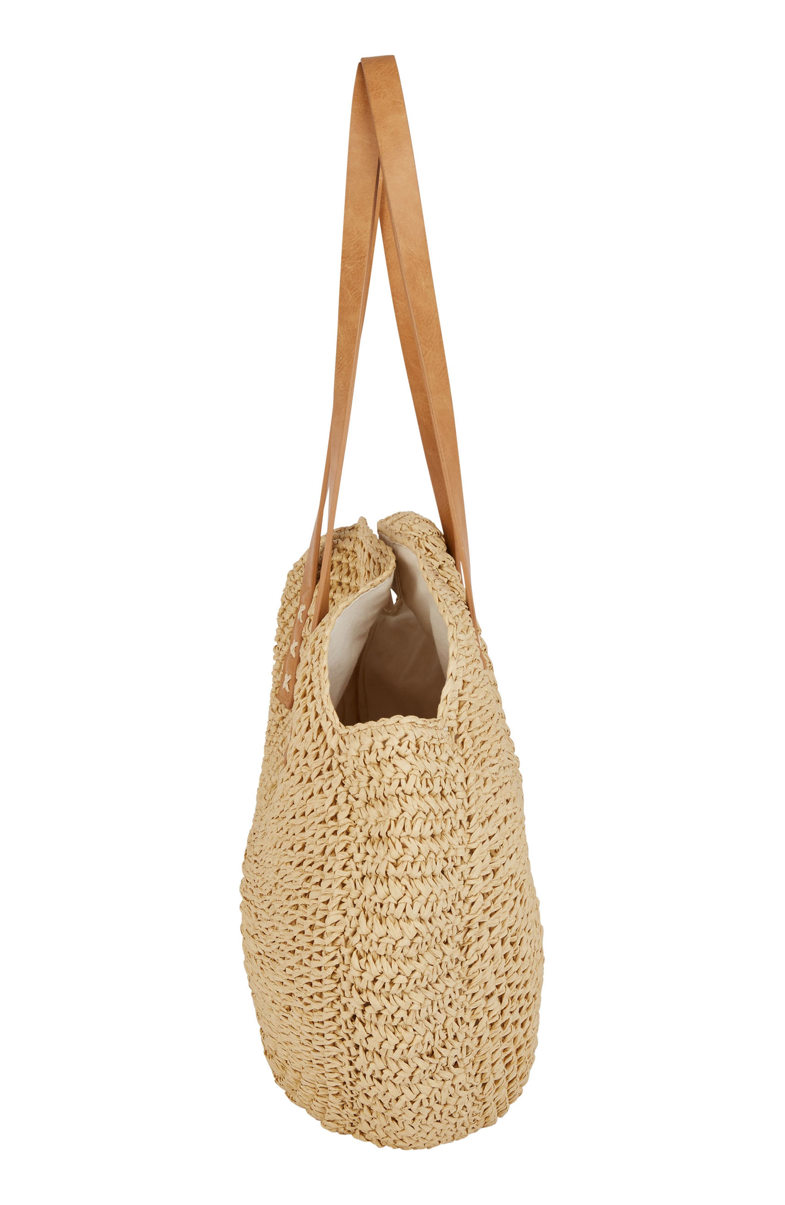 Round About Straw Tote,                             Alternate thumbnail 2, color,                             Natural